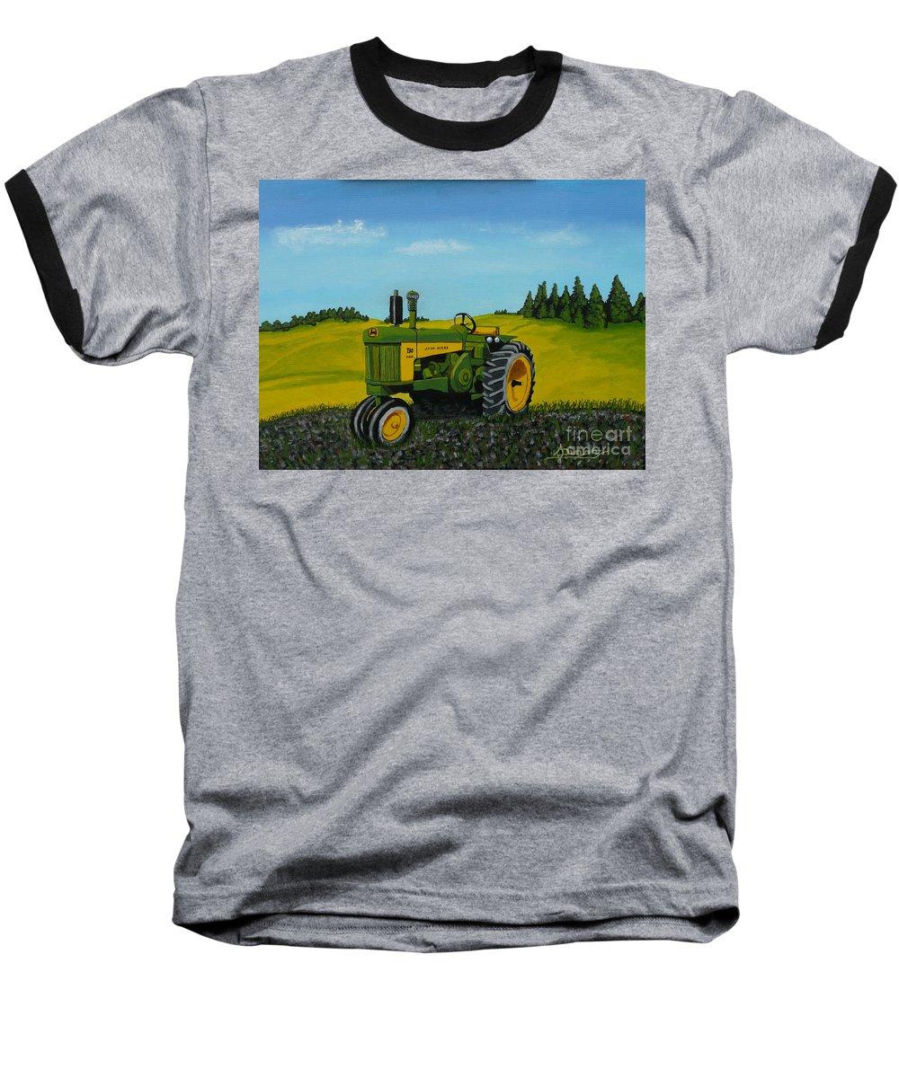 John Deere Baseball T-Shirt featuring the painting Dear John by Anthony Dunphy