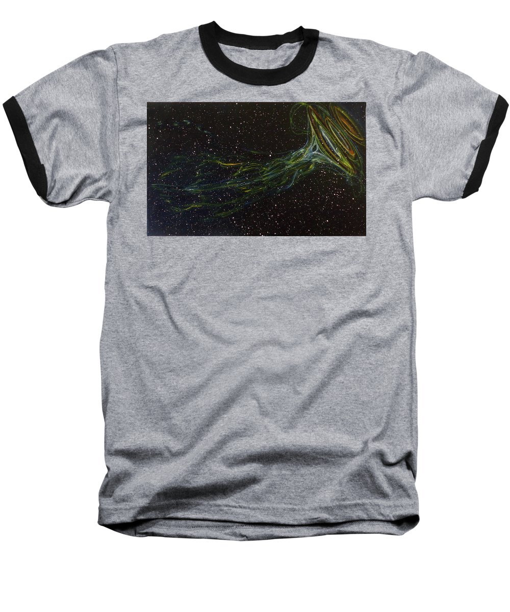 Abstract Baseball T-Shirt featuring the painting Death Throes by Sean Connolly