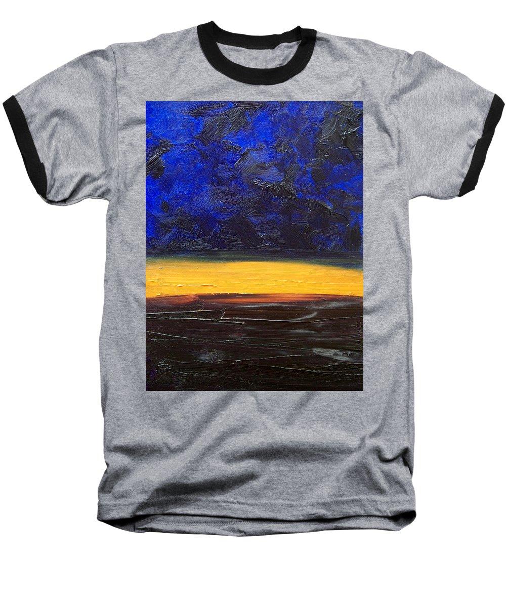 Landscape Baseball T-Shirt featuring the painting Desert Plains by Sergey Bezhinets