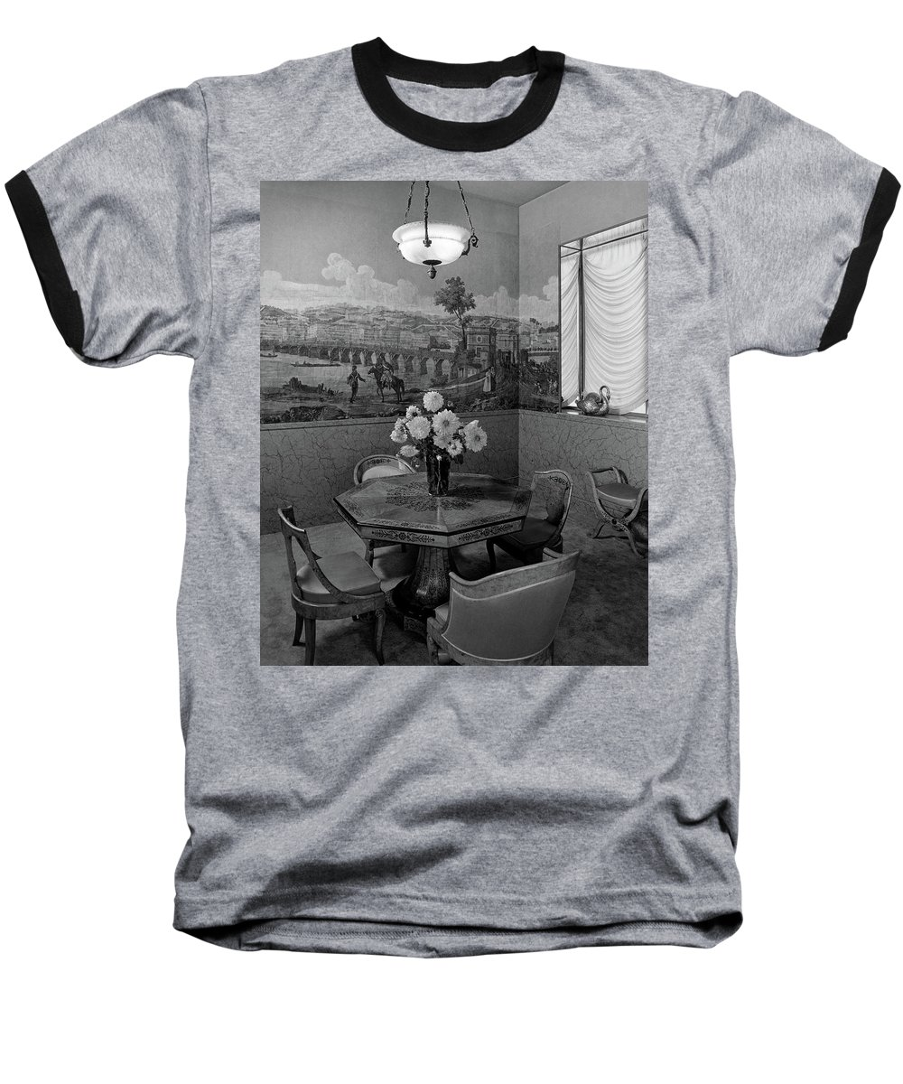 Architecture Baseball T-Shirt featuring the photograph Dining Room In Helena Rubinstein's Home by F. S. Lincoln