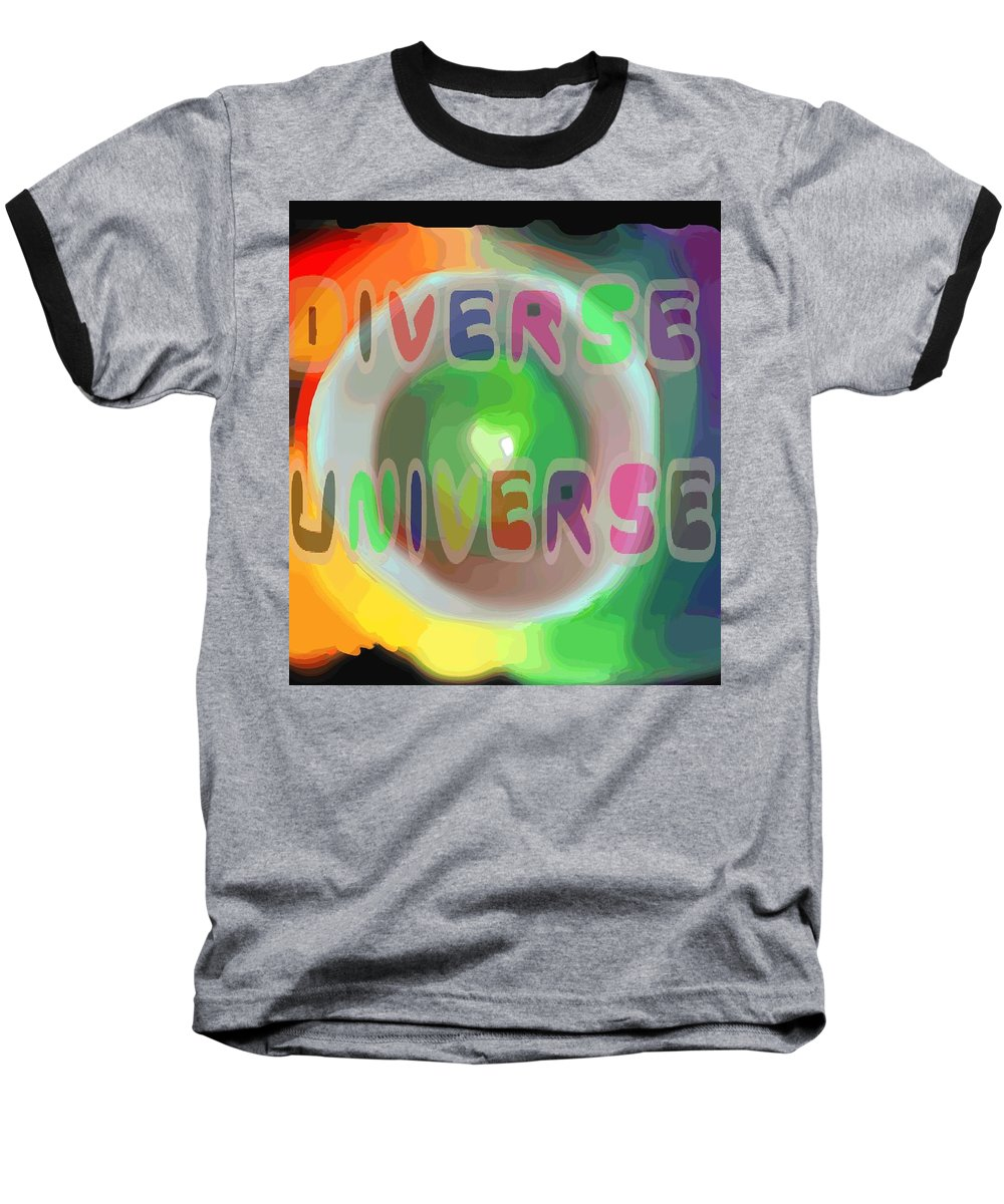 Diverse Baseball T-Shirt featuring the painting Diverse Universe by Pharris Art