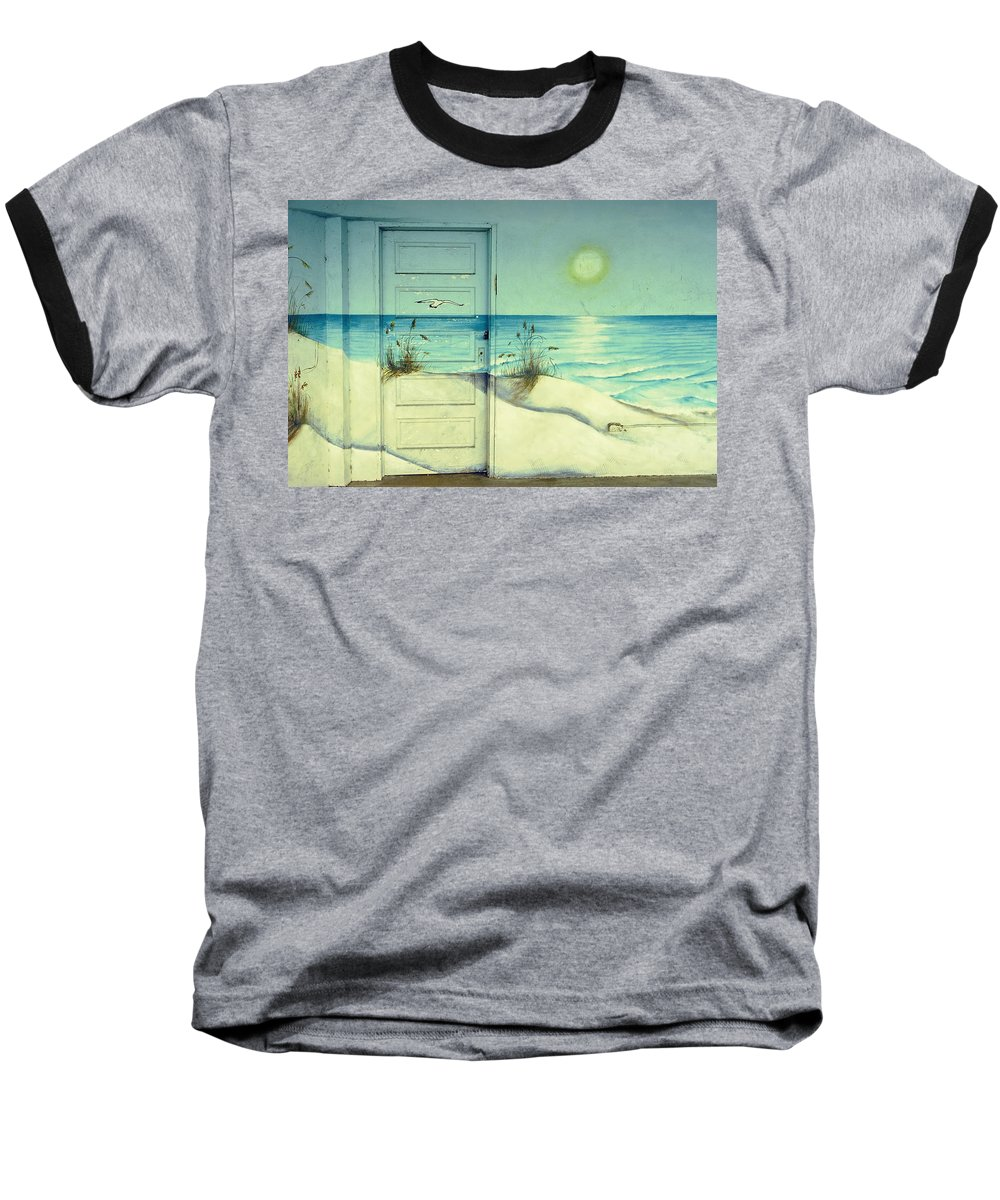 Architecture Baseball T-Shirt featuring the photograph Door Of Perception by Skip Hunt