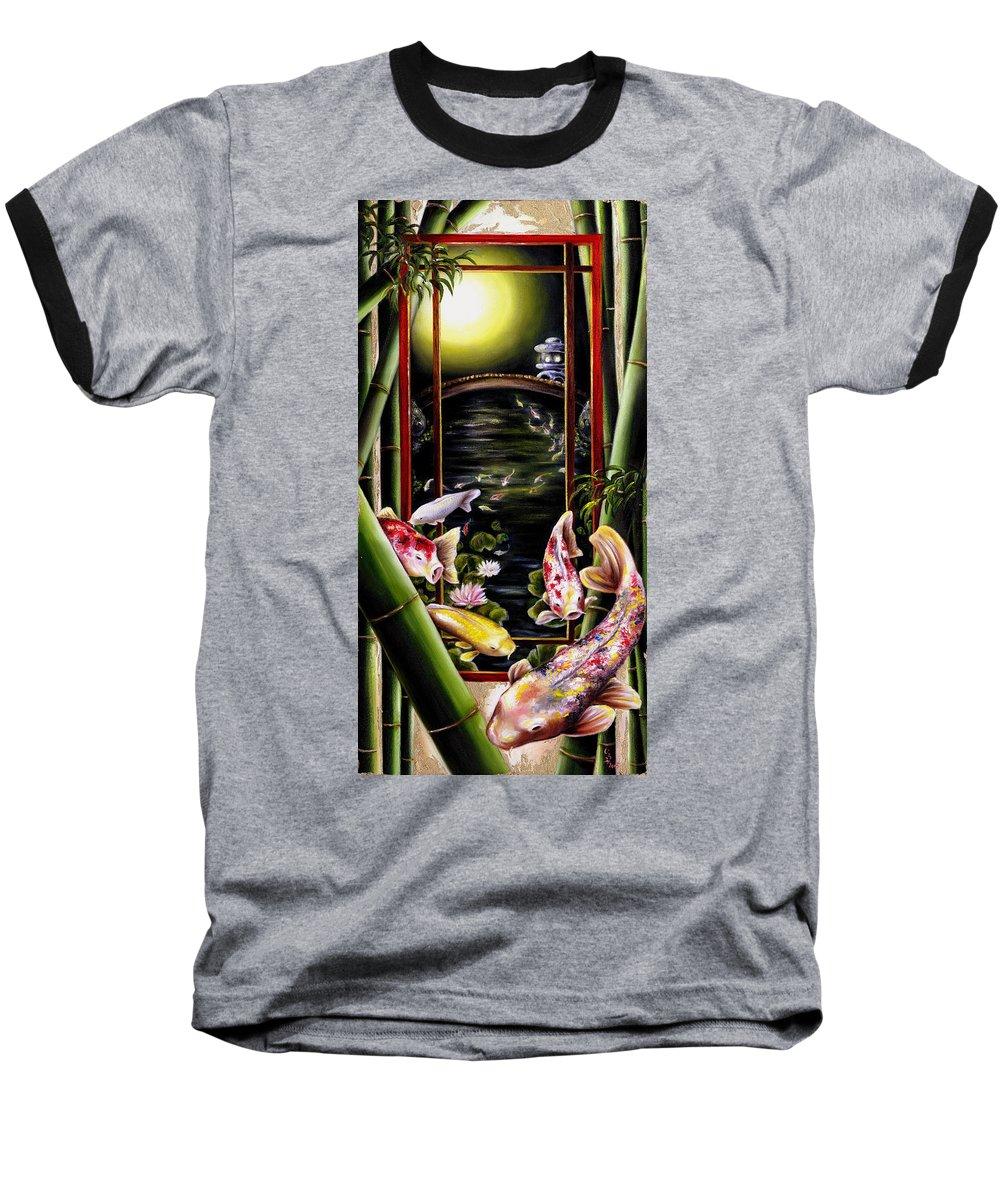 Japanese Baseball T-Shirt featuring the painting Dream by Hiroko Sakai