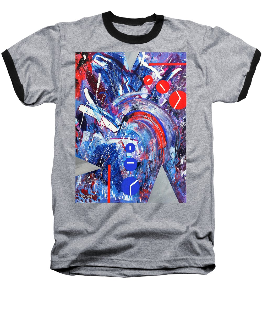 Abstract Baseball T-Shirt featuring the painting Dream Run 2001 by RalphGM