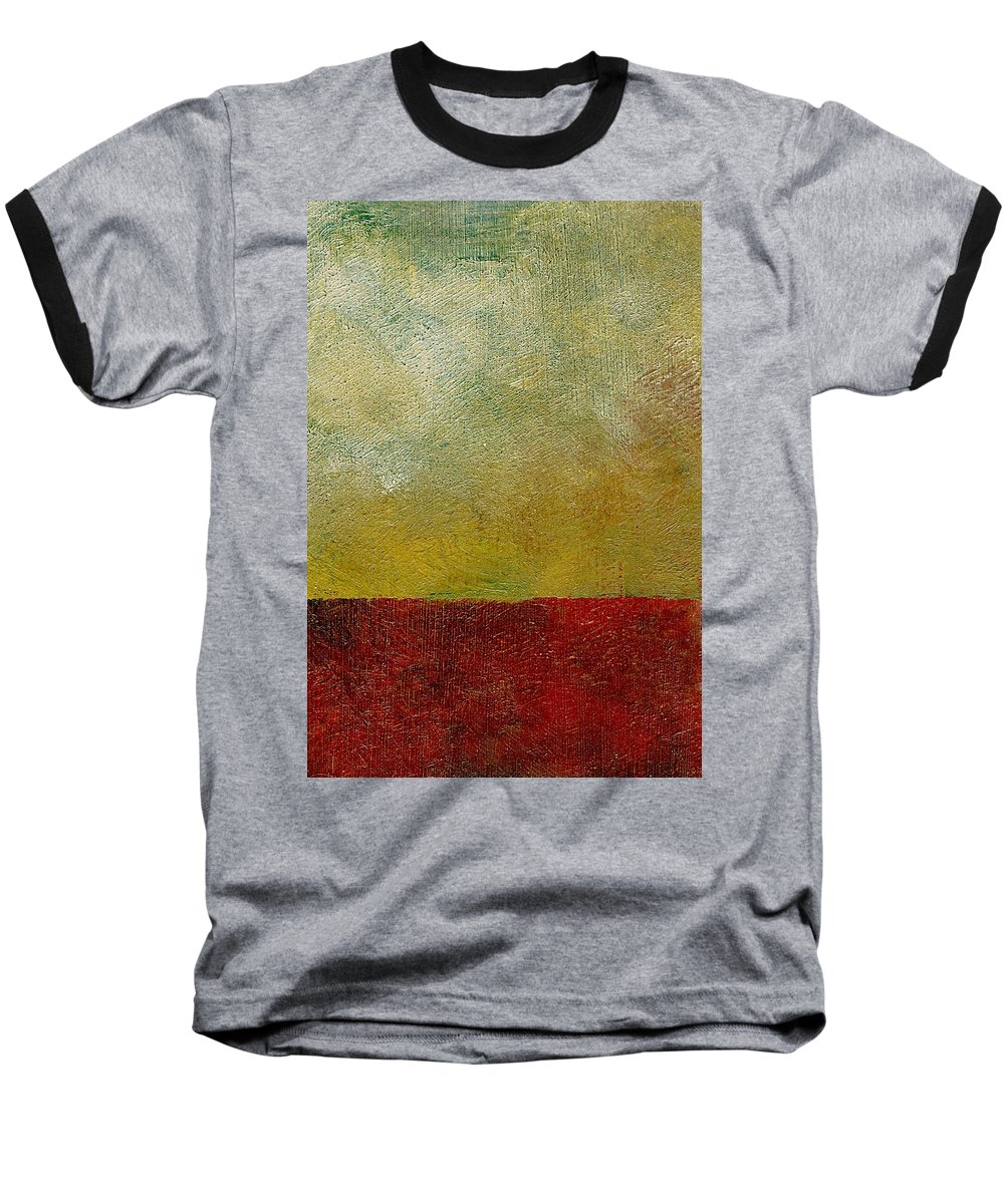 Abstract Landscape Baseball T-Shirt featuring the painting Earth Study One by Michelle Calkins
