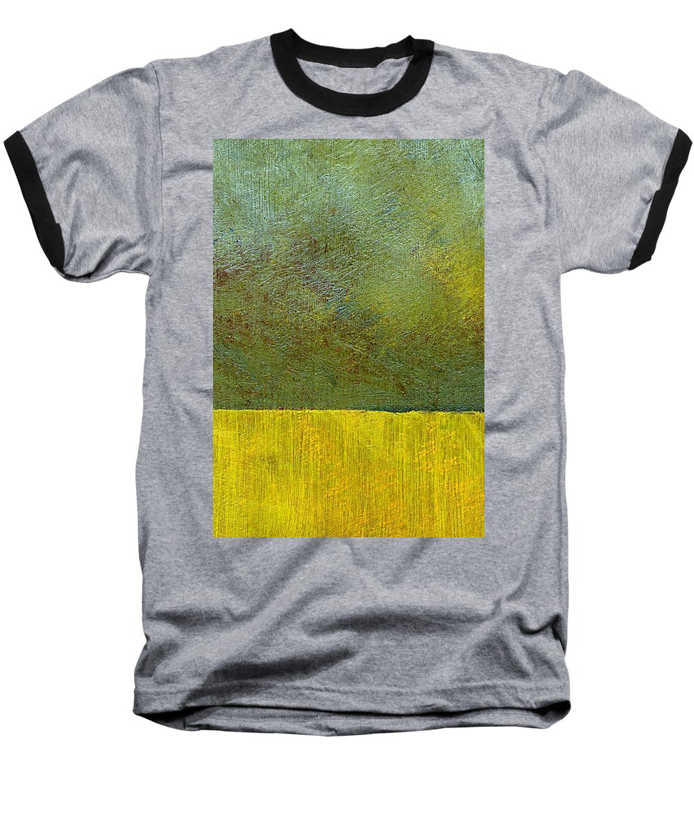 Abstract Landscape Baseball T-Shirt featuring the painting Earth Study Two by Michelle Calkins