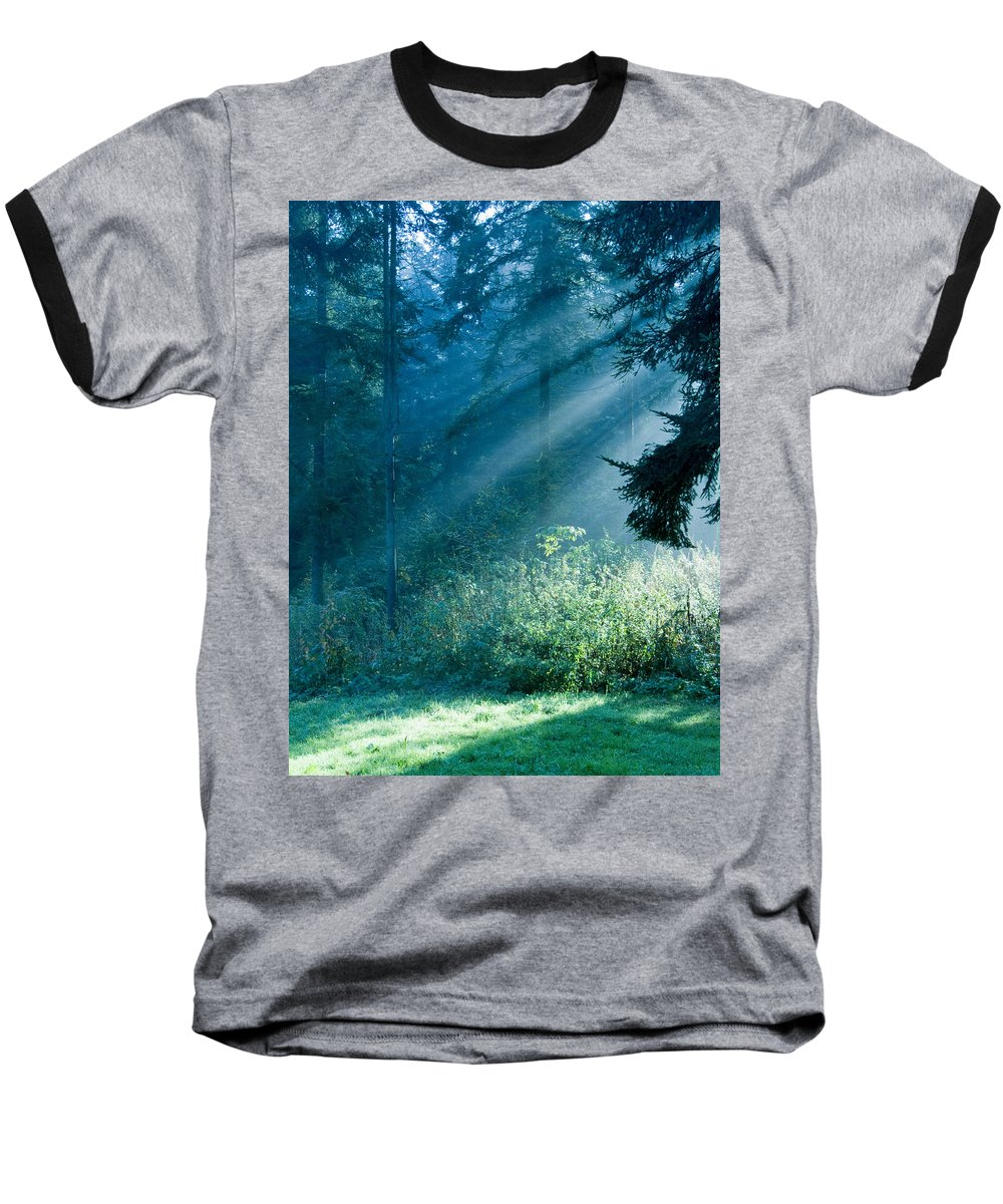 Nature Baseball T-Shirt featuring the photograph Elven Forest by Daniel Csoka