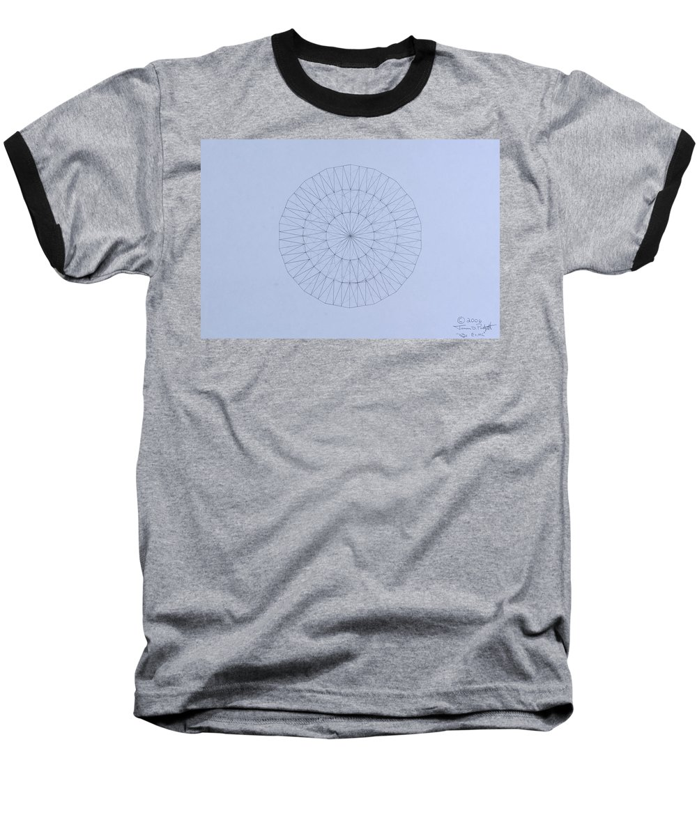 Jason Padgett Baseball T-Shirt featuring the drawing Energy Wave 20 Degree Frequency by Jason Padgett