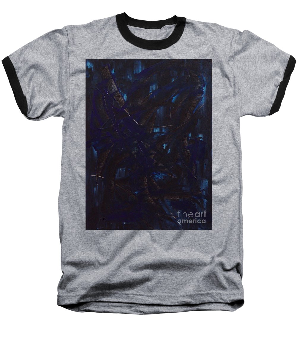 Abstract Baseball T-Shirt featuring the painting Expectations Blue by Dean Triolo