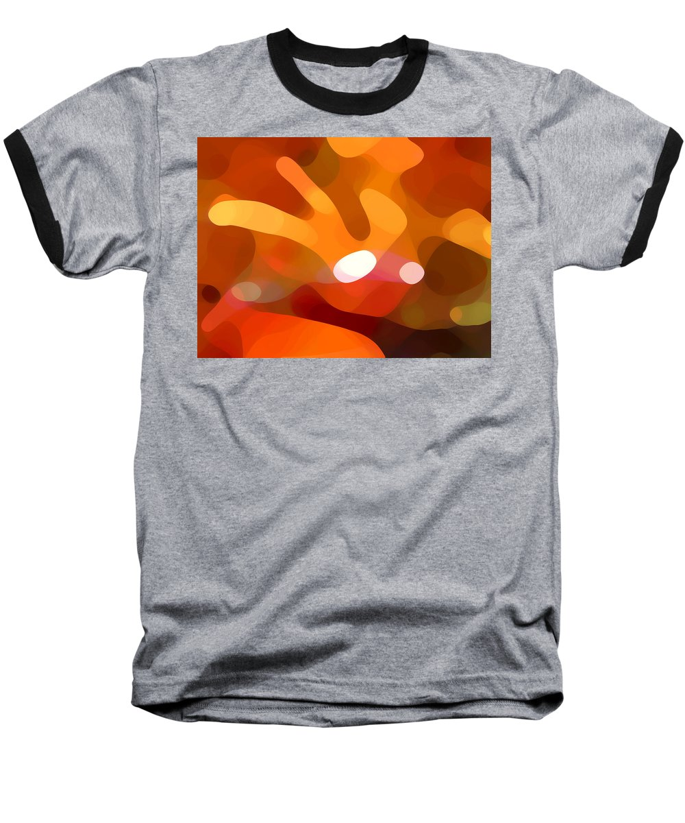 Abstract Baseball T-Shirt featuring the painting Fall Day by Amy Vangsgard