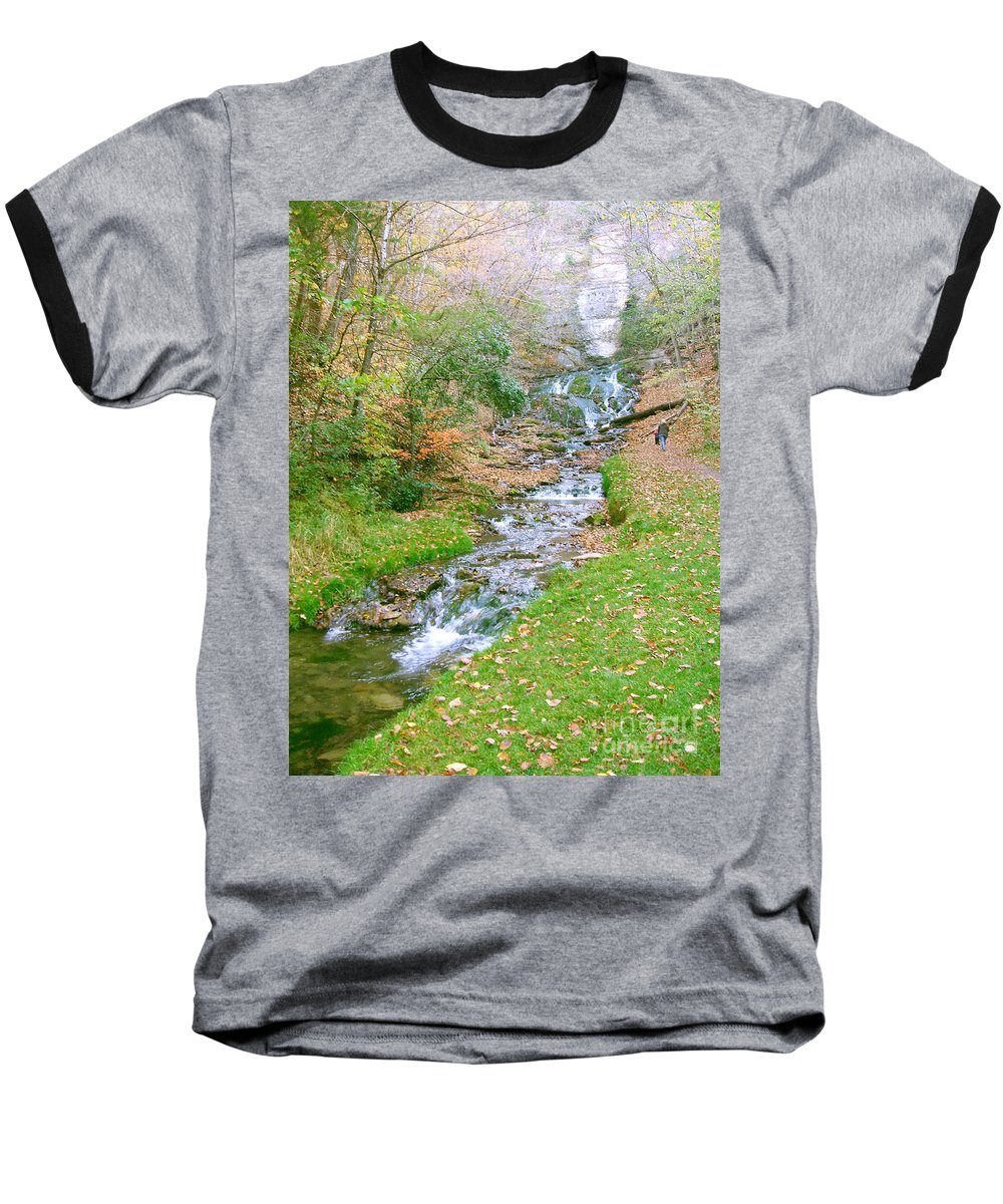Springs Baseball T-Shirt featuring the photograph Fall Springs by Minding My Visions by Adri and Ray