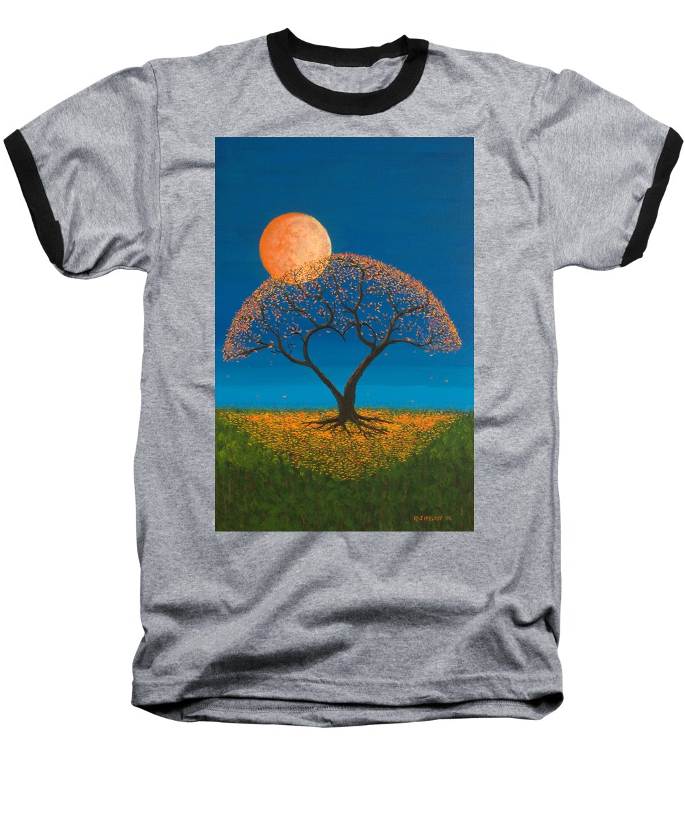 Love Baseball T-Shirt featuring the painting Falling For You by Jerry McElroy