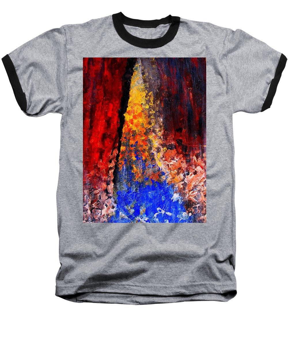 Abstract Baseball T-Shirt featuring the painting Falling by Ian MacDonald