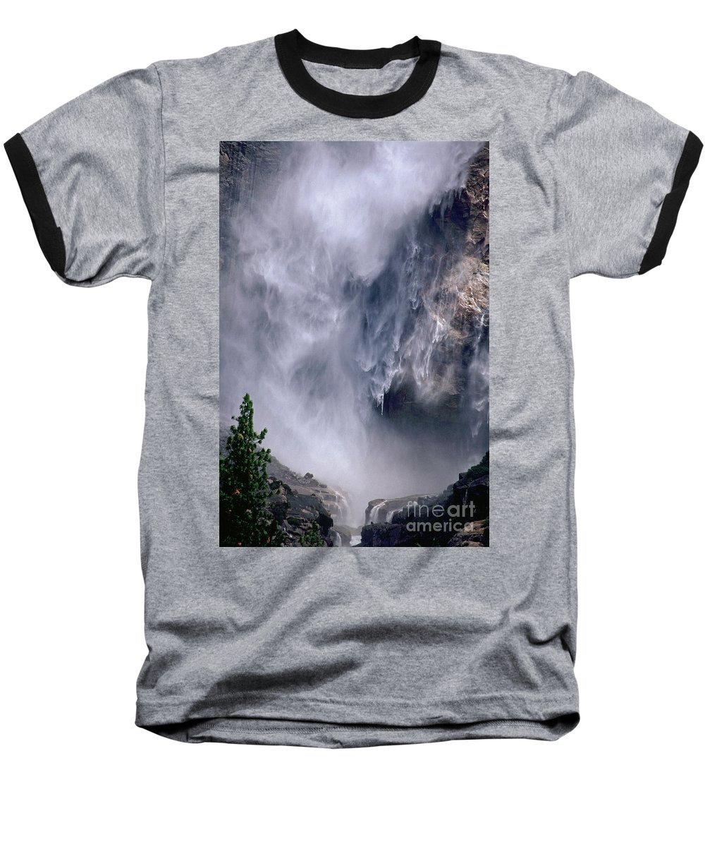 Waterfall Baseball T-Shirt featuring the photograph Falling Water by Kathy McClure