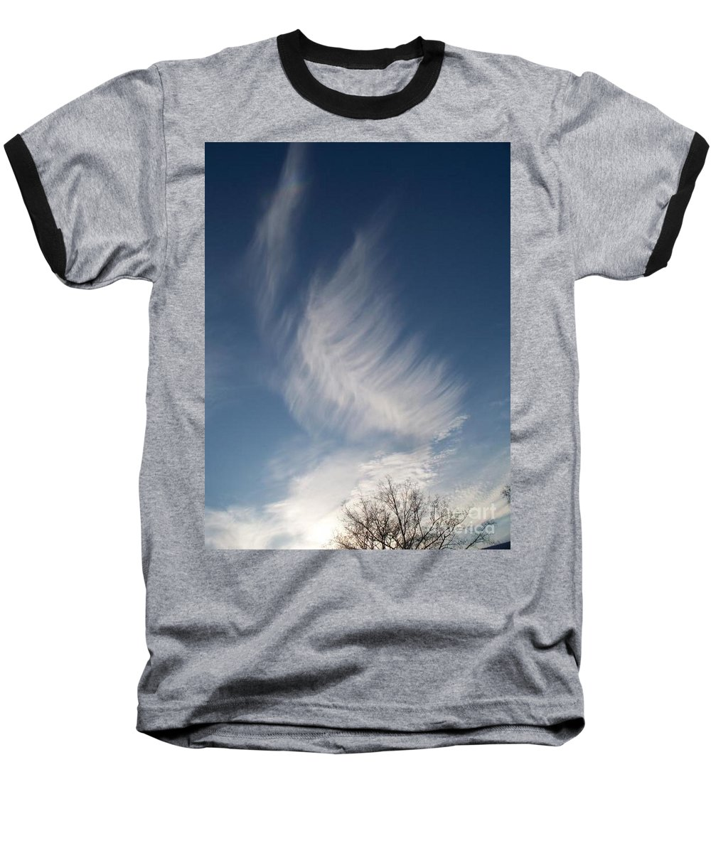 Angel Baseball T-Shirt featuring the photograph Feather Cloud By Diane Schiabor by Eric Schiabor
