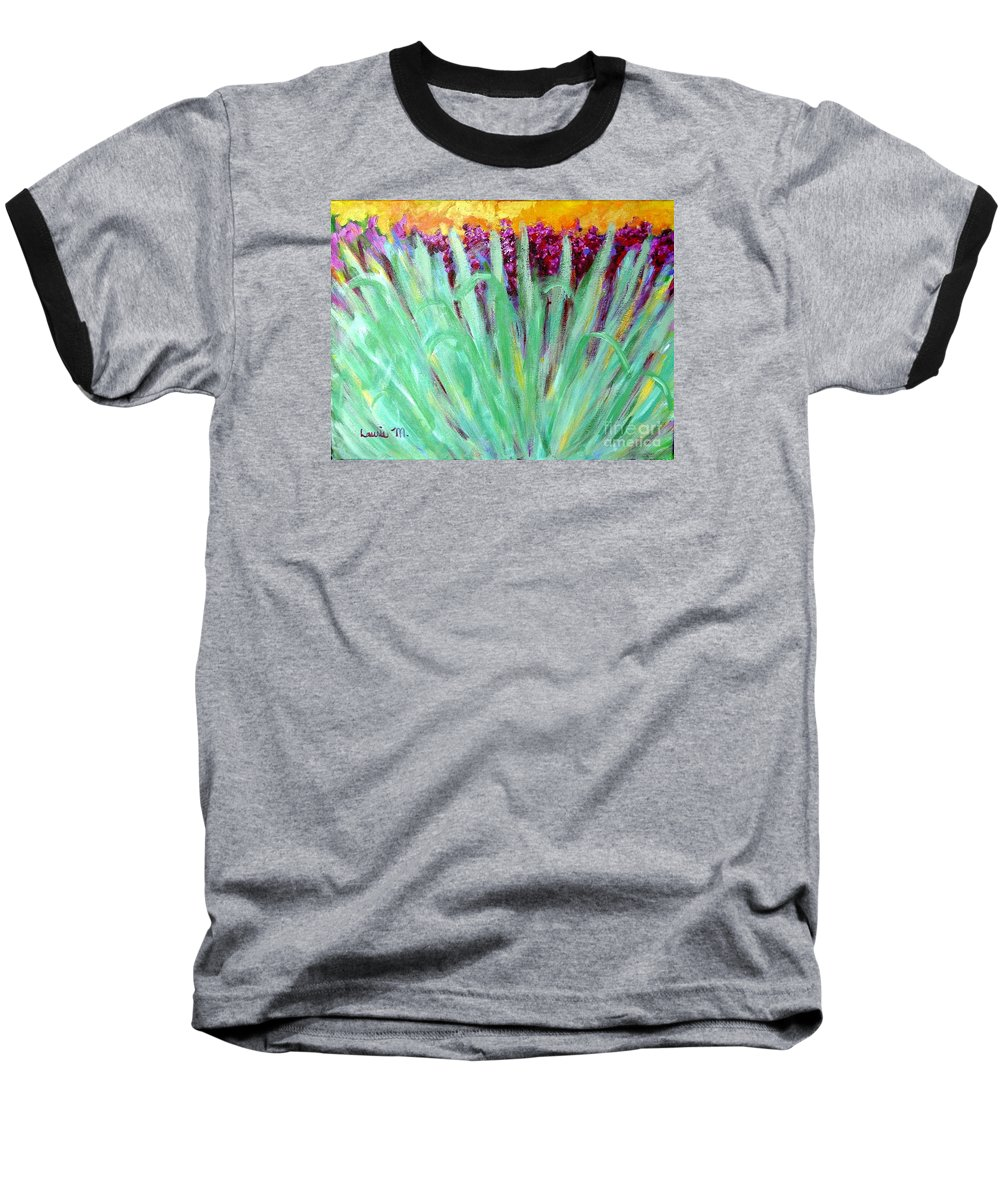 Abstract Baseball T-Shirt featuring the painting Festoon by Laurie Morgan