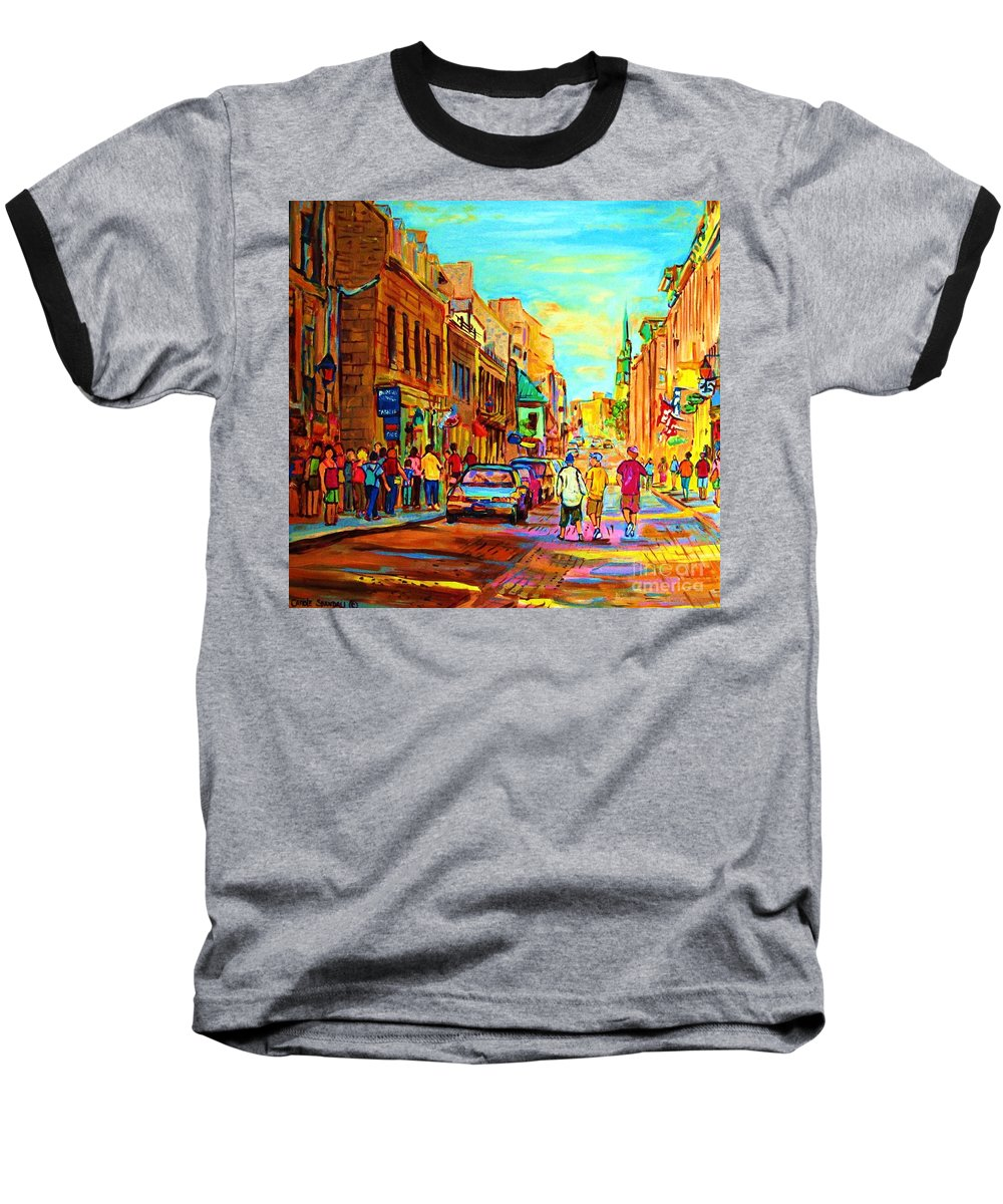 Montreal Baseball T-Shirt featuring the painting Follow The Yellow Brick Road by Carole Spandau