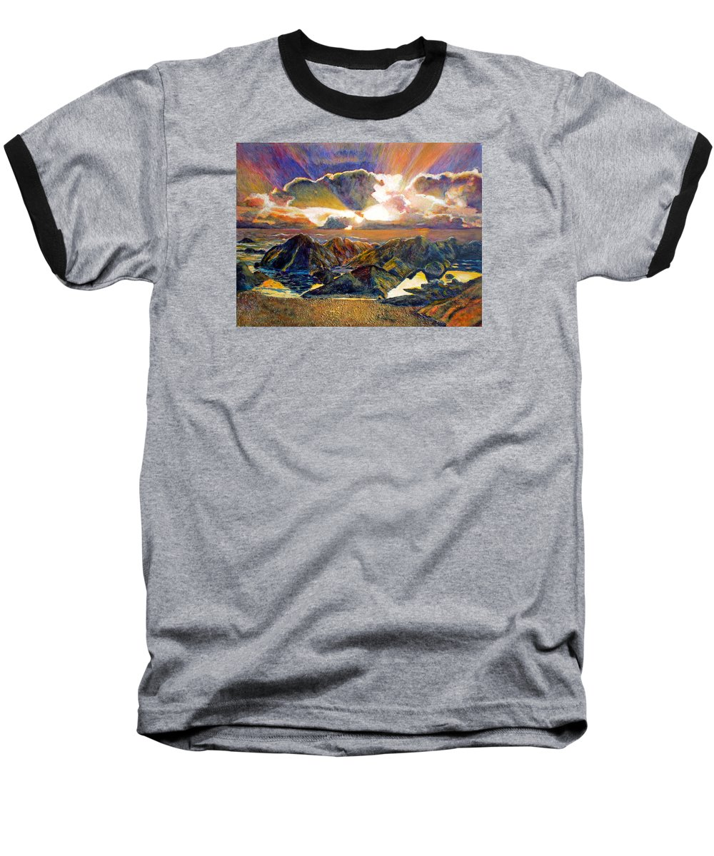 Seascape Baseball T-Shirt featuring the painting God Speaking by Michael Durst