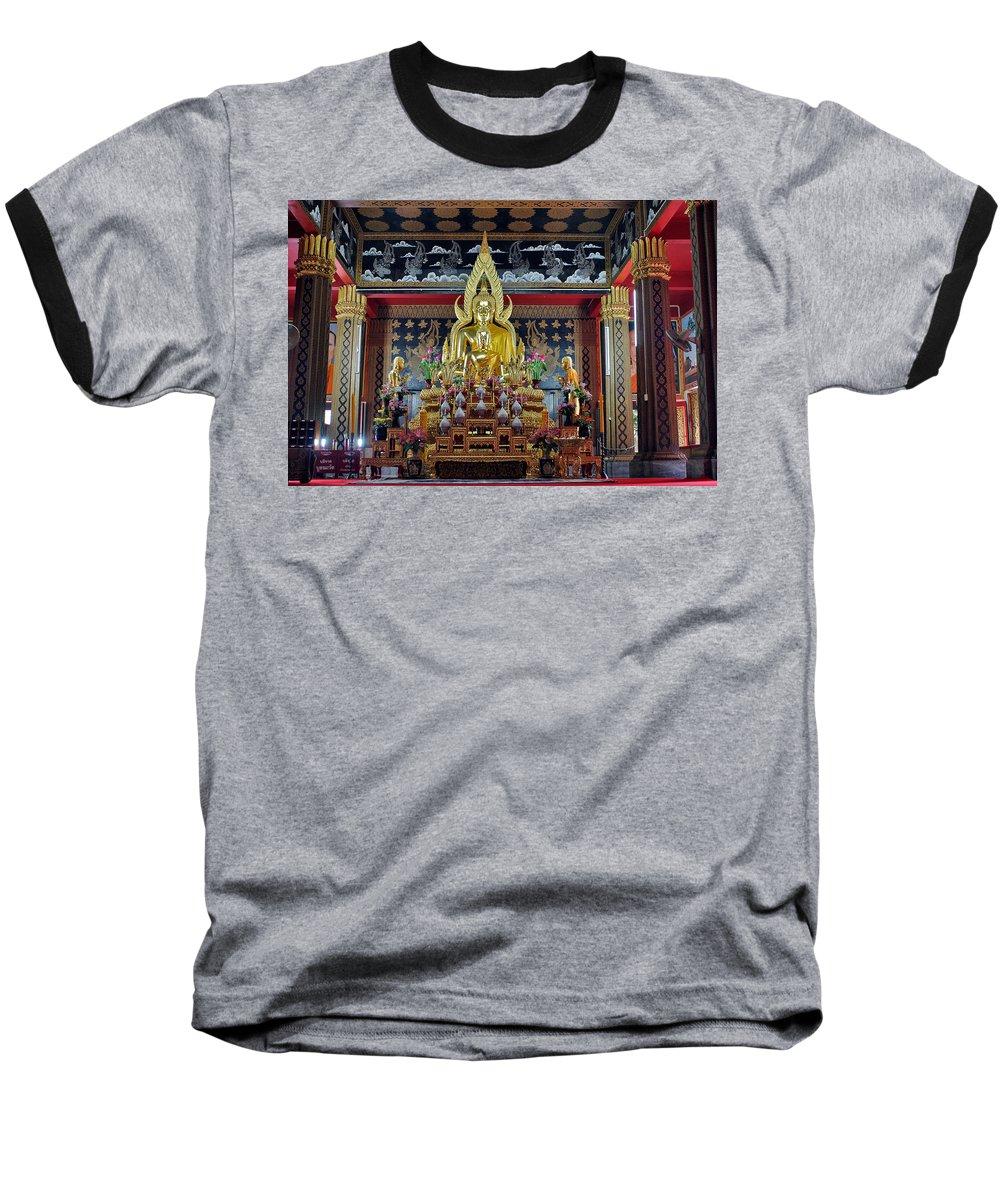 3scape Baseball T-Shirt featuring the photograph Golden Buddha by Adam Romanowicz