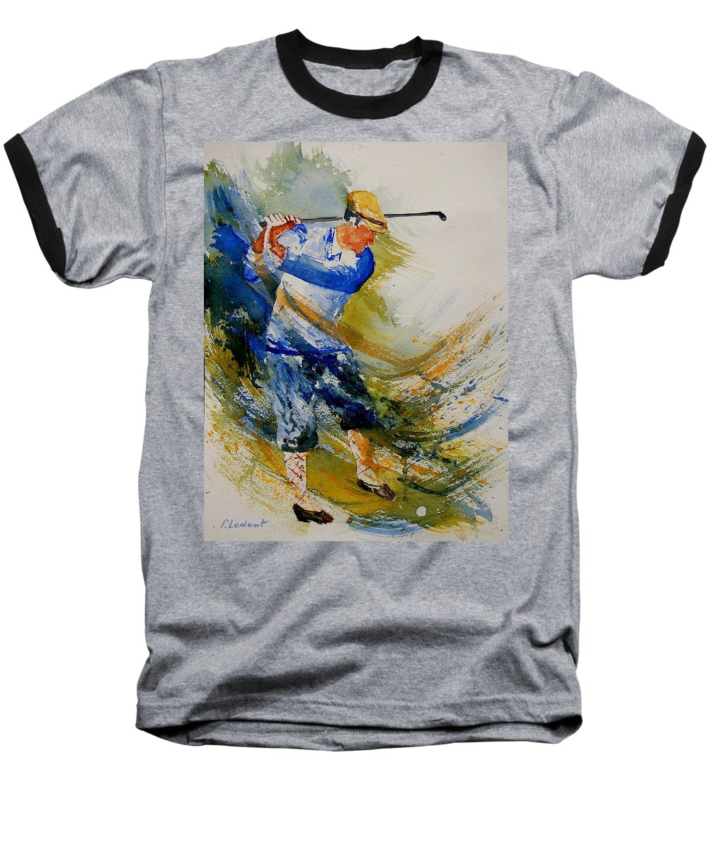 Golf Baseball T-Shirt featuring the painting Golf Player by Pol Ledent