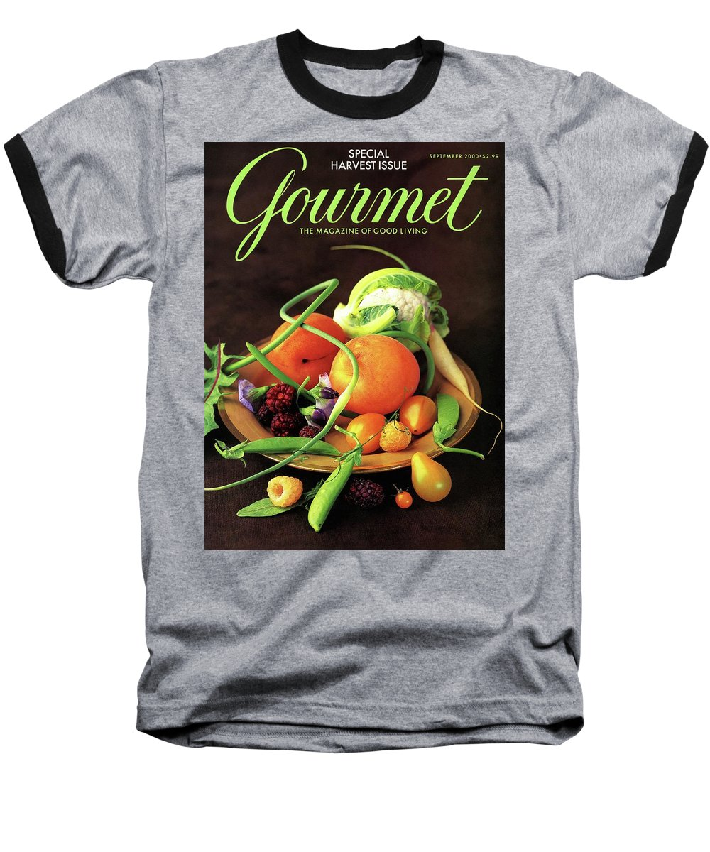 Food Baseball T-Shirt featuring the photograph Gourmet Cover Featuring A Variety Of Fruit by Romulo Yanes