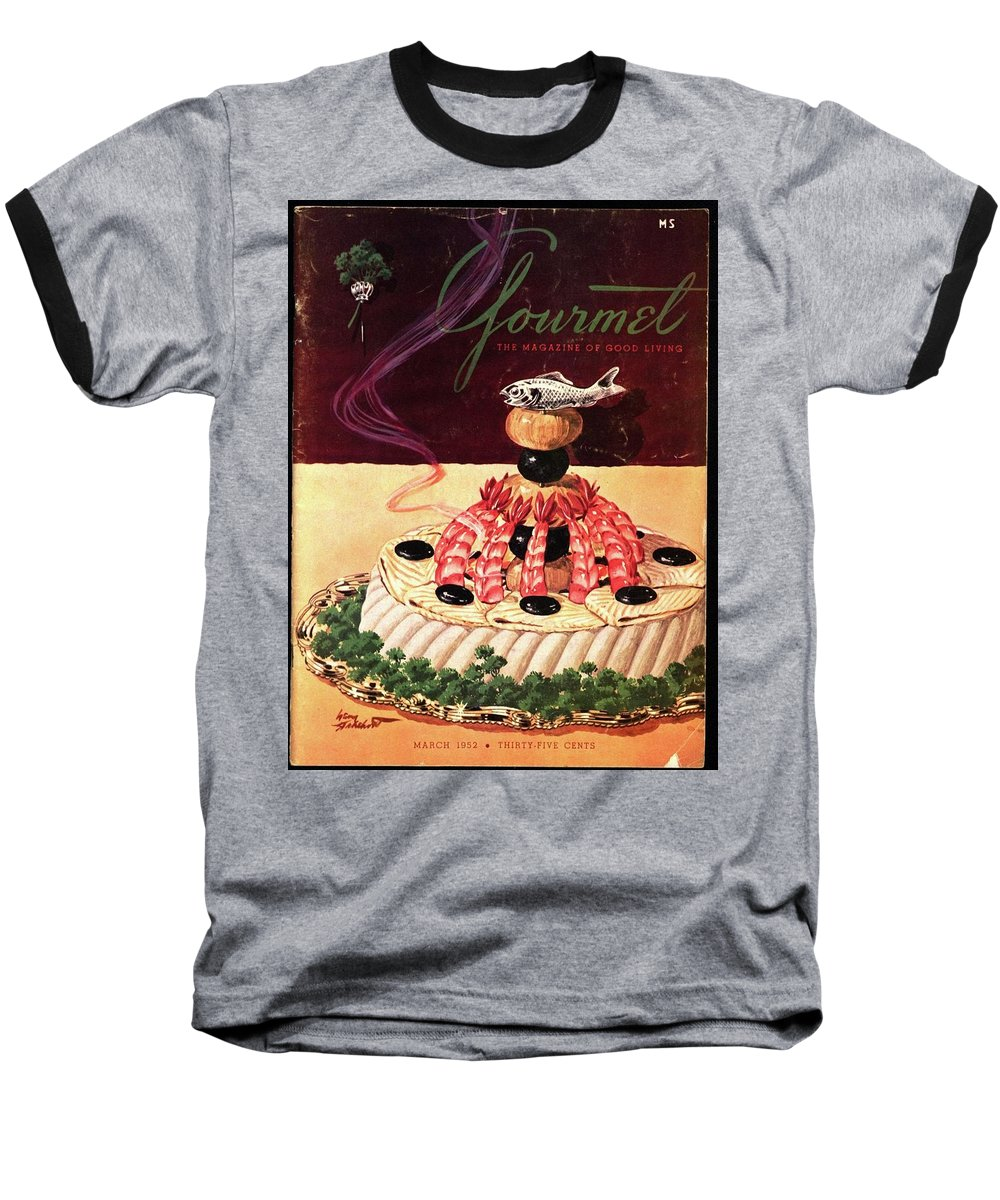 Food Baseball T-Shirt featuring the photograph Gourmet Cover Illustration Of A Filet Of Sole by Henry Stahlhut