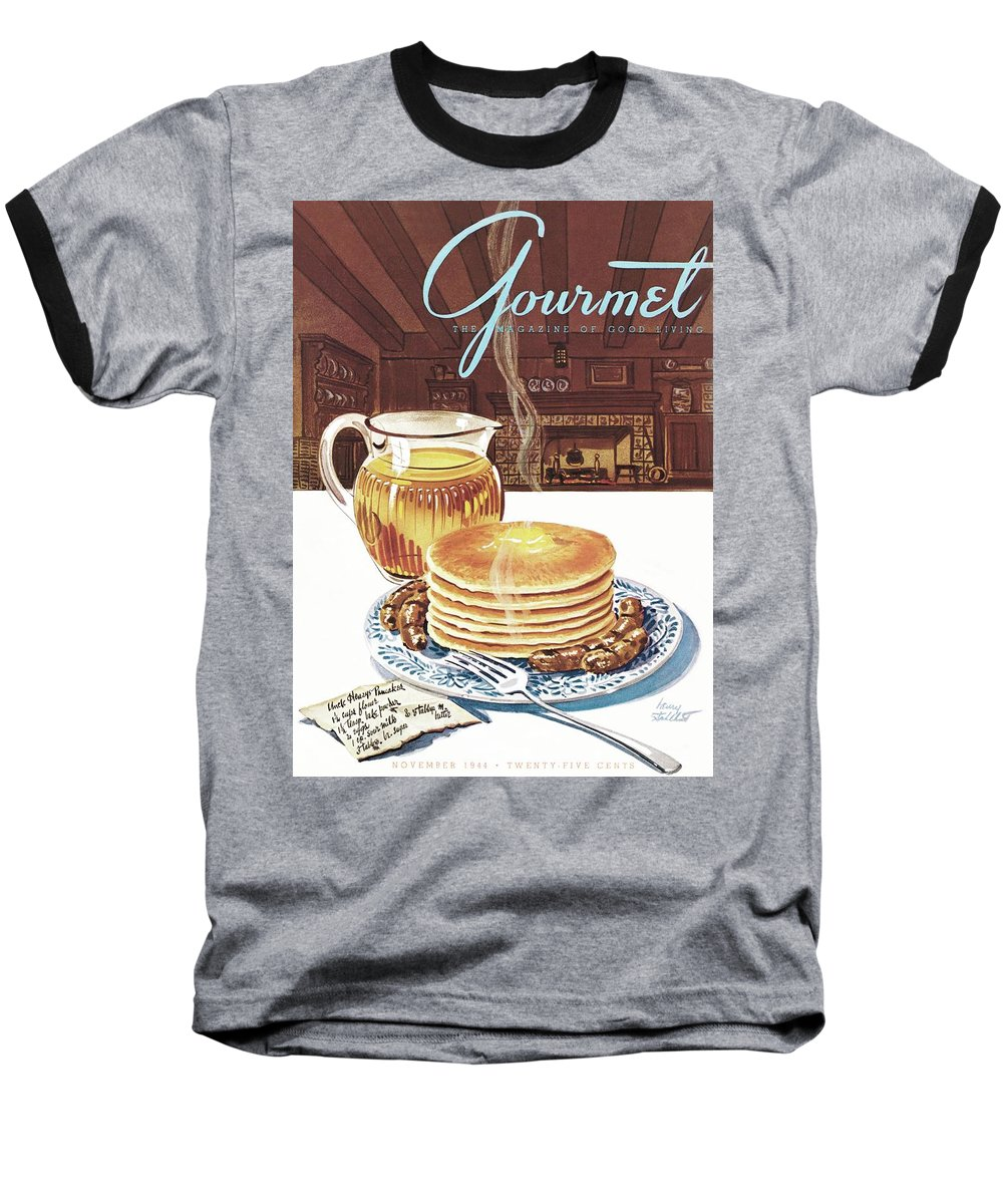 Food Baseball T-Shirt featuring the photograph Gourmet Cover Of Pancakes by Henry Stahlhut