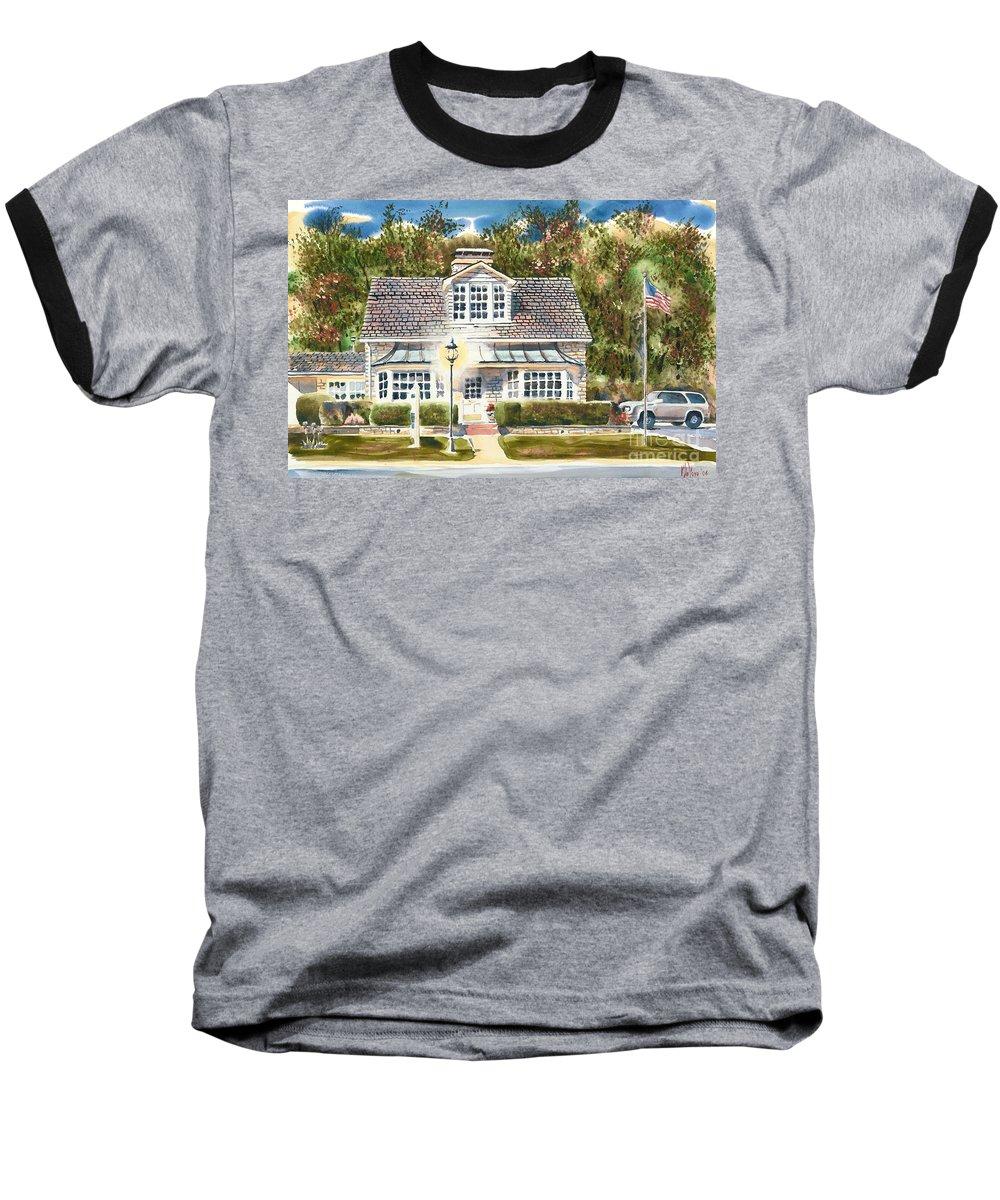 Greystone Inn Ii Baseball T-Shirt featuring the painting Greystone Inn II by Kip DeVore