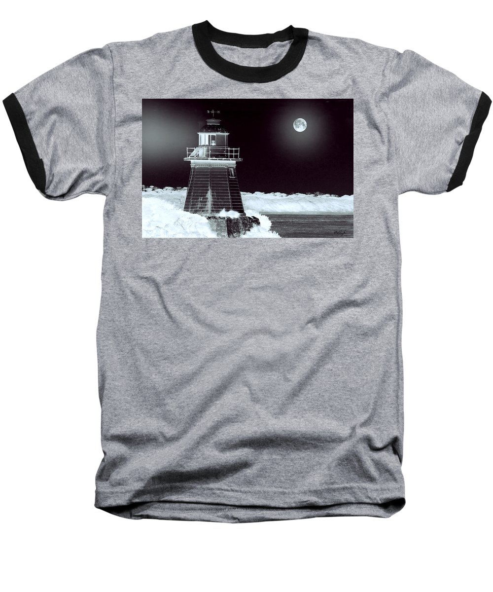 Landscapes Baseball T-Shirt featuring the photograph Guiding Lights by Holly Kempe
