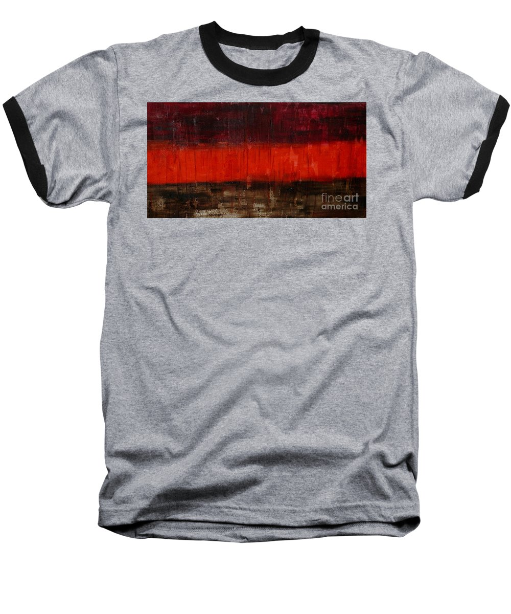 Abstract Baseball T-Shirt featuring the painting High Energy by Silvana Abel