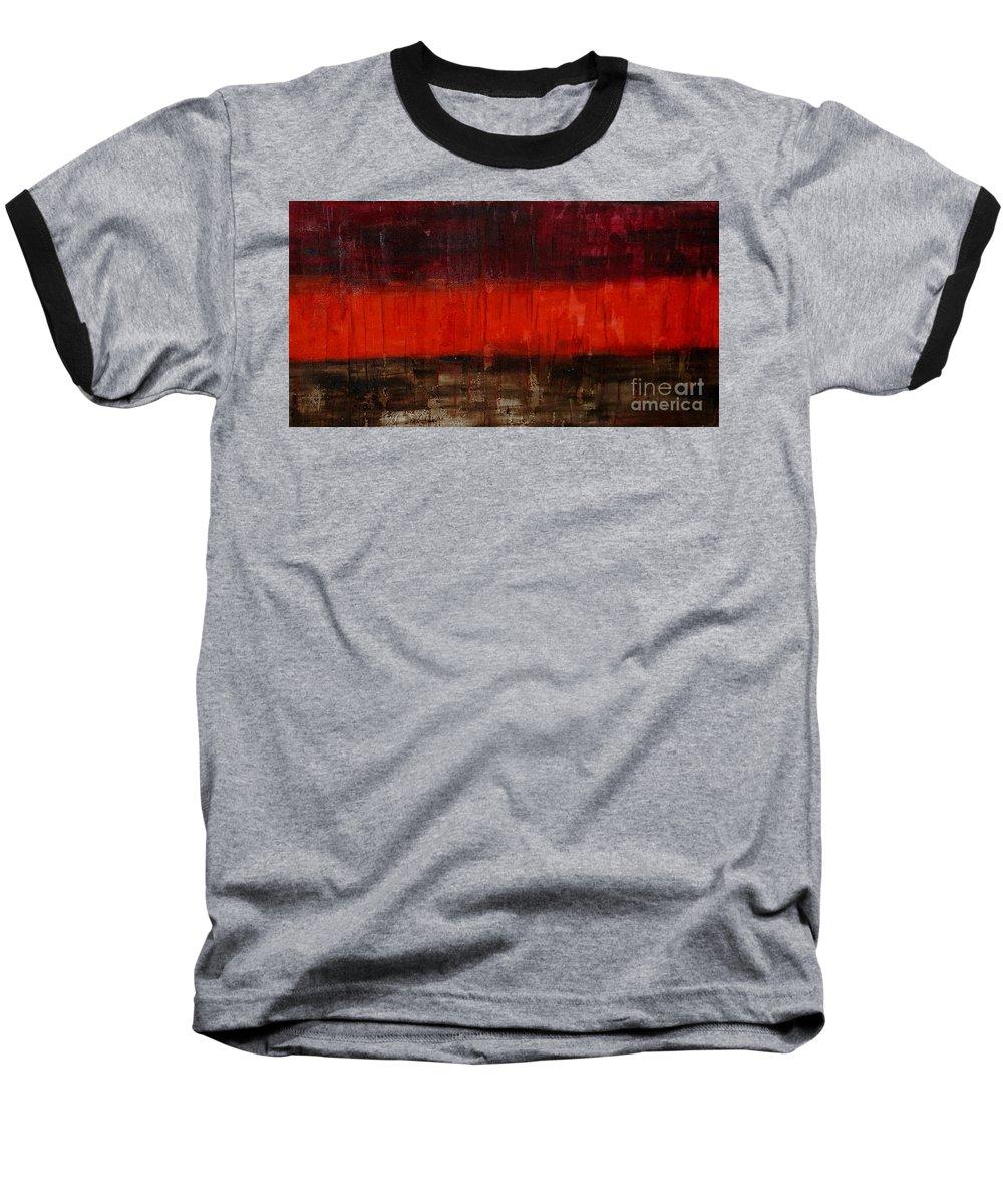 Modern Art Baseball T-Shirt featuring the painting High Energy by Silvana Abel