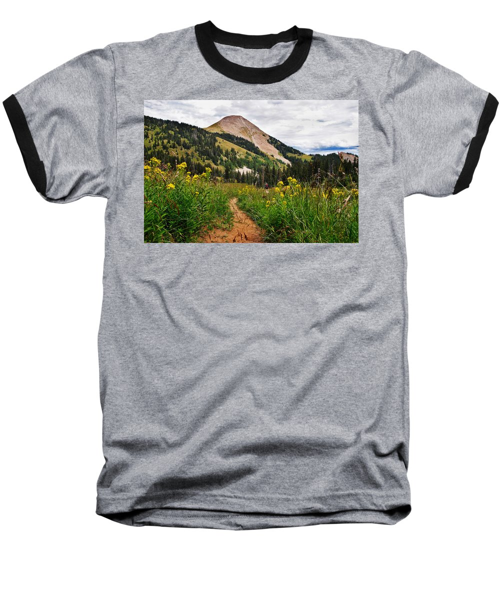 3scape Photos Baseball T-Shirt featuring the photograph Hiking In La Sal by Adam Romanowicz