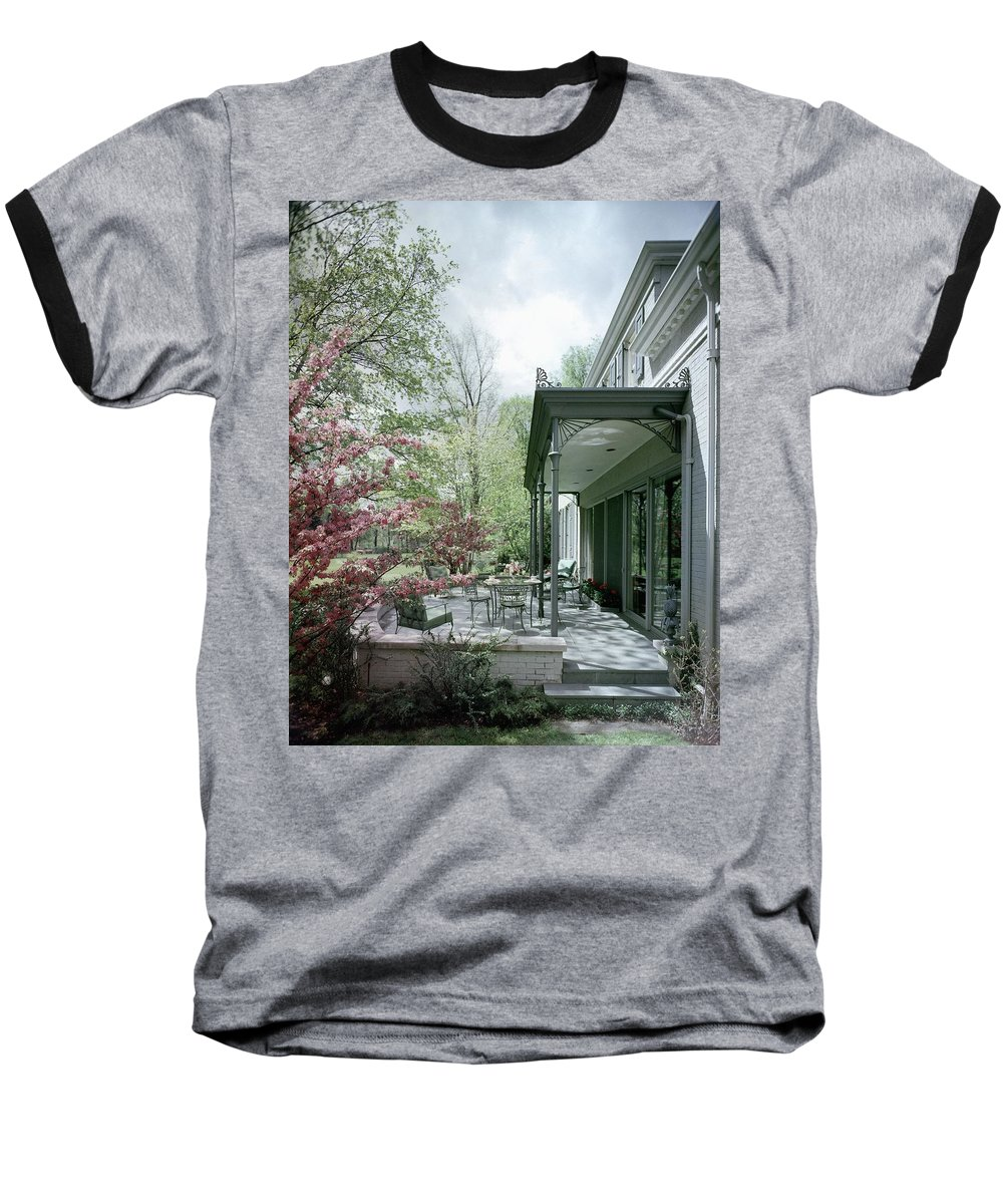 Garden Baseball T-Shirt featuring the photograph Hollis Baker's Patio by Pedro E. Guerrero