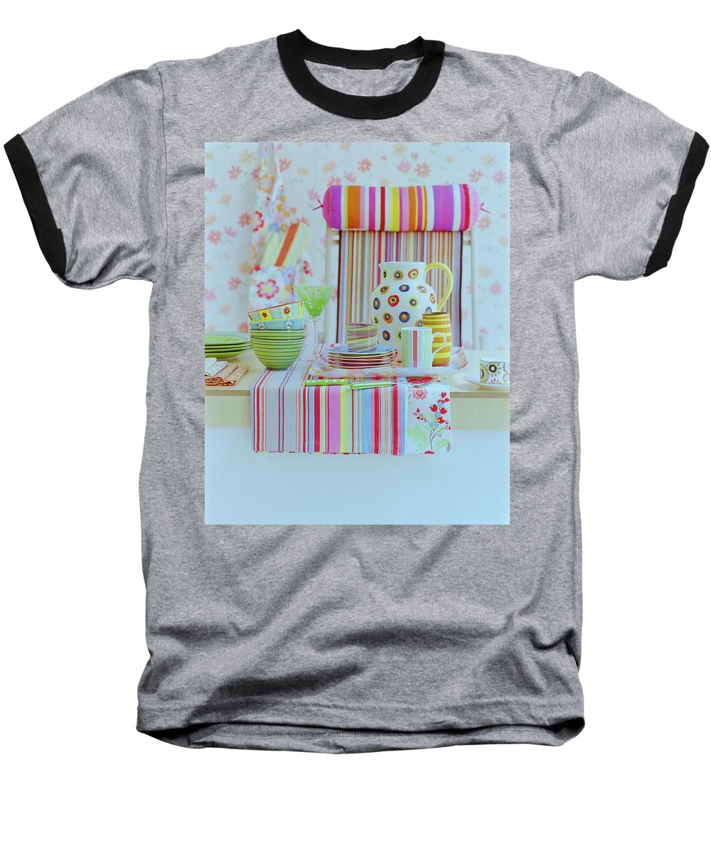 Kitchen Baseball T-Shirt featuring the photograph Home Accessories by Romulo Yanes