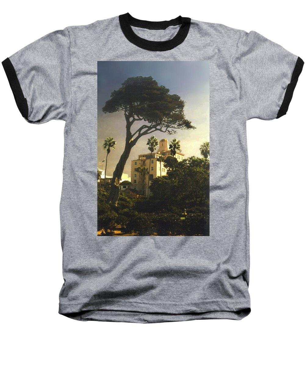 Landscape Baseball T-Shirt featuring the photograph Hotel California- La Jolla by Steve Karol