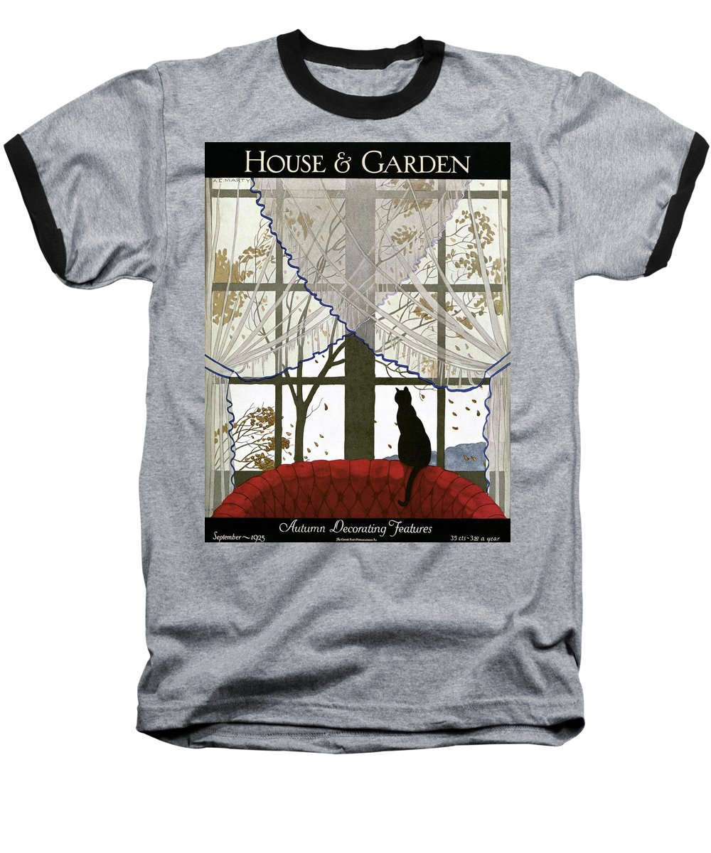 Illustration Baseball T-Shirt featuring the photograph House And Garden Cover by Andre E. Marty