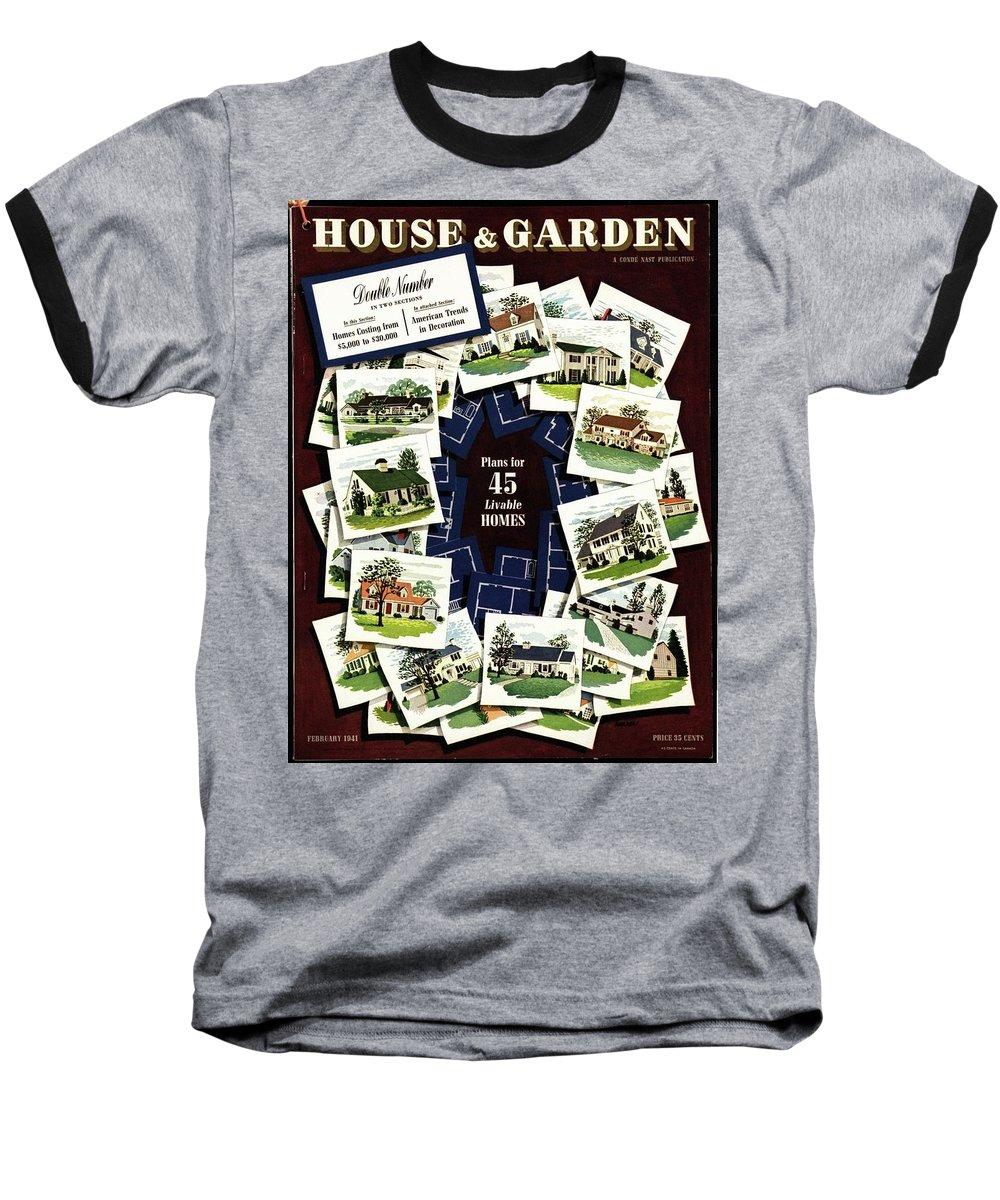 House And Garden Baseball T-Shirt featuring the photograph House And Garden Cover Featuring A Collage by Robert Harrer