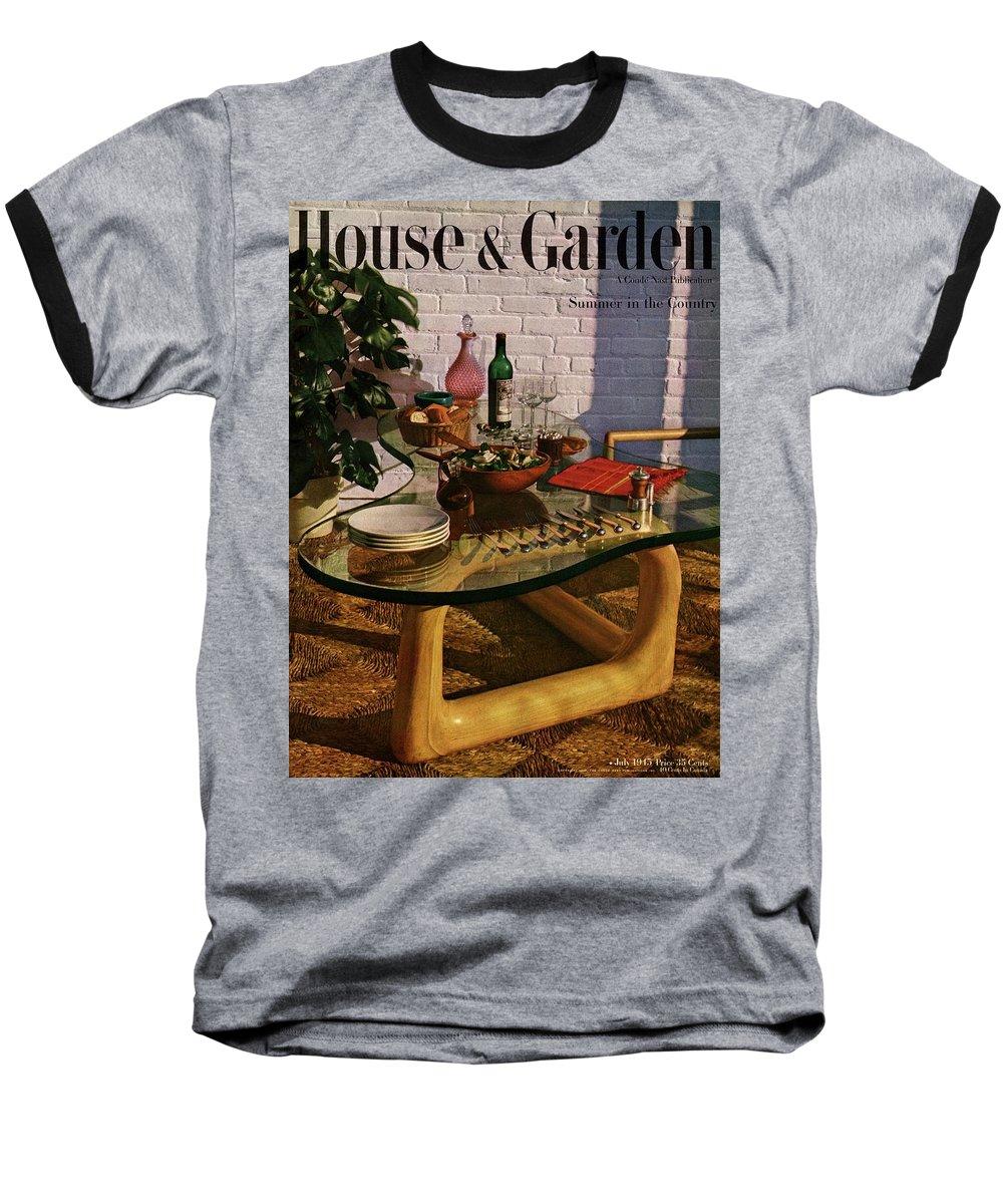 House And Garden Baseball T-Shirt featuring the photograph House And Garden Cover Featuring Brunch by John Rawlings