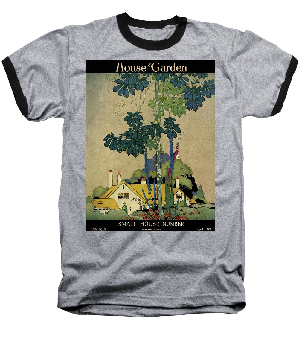 House And Garden Baseball T-Shirt featuring the photograph House And Garden Cover by H. George Brandt
