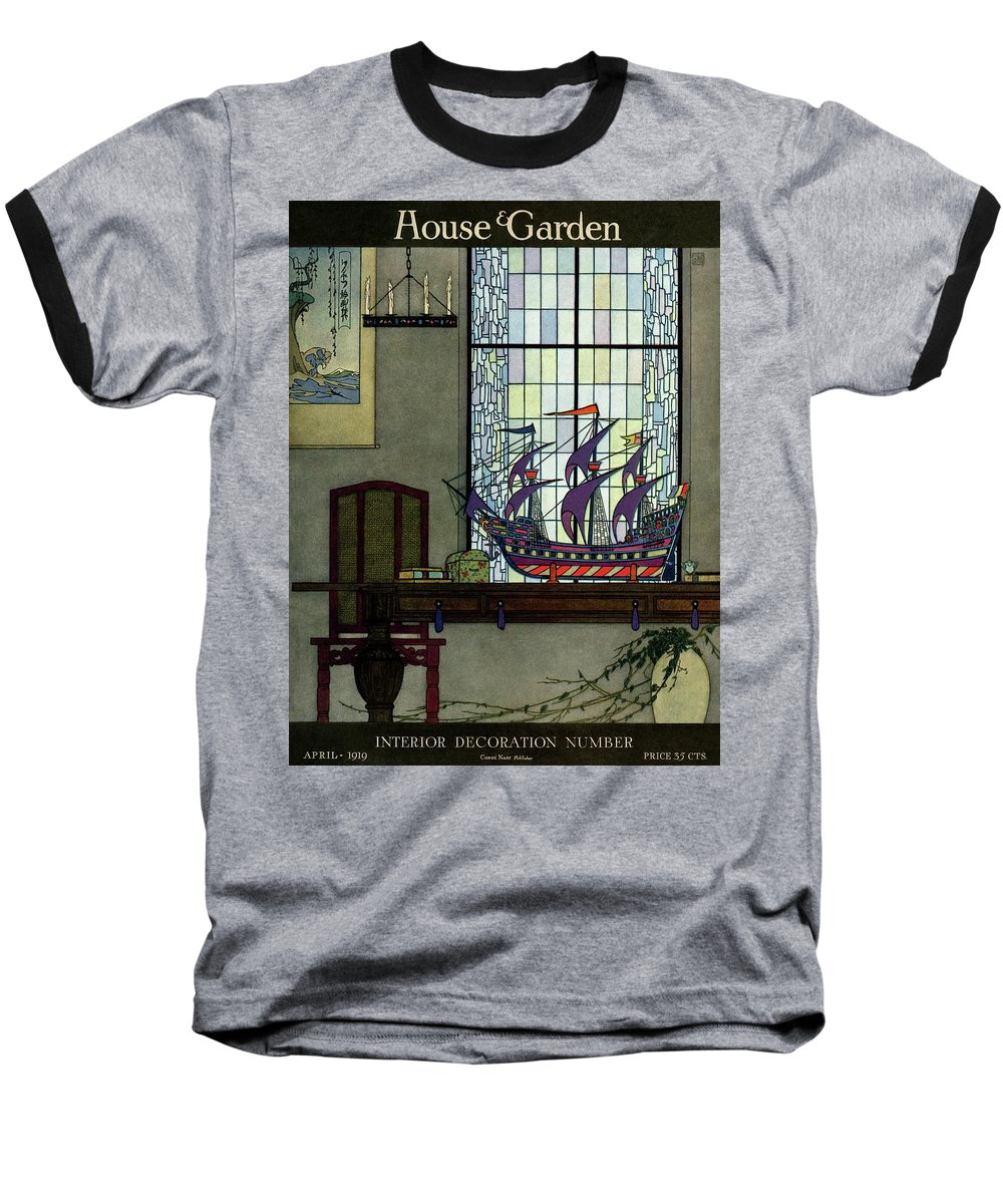 House And Garden Baseball T-Shirt featuring the photograph House And Garden by Harry Richardson