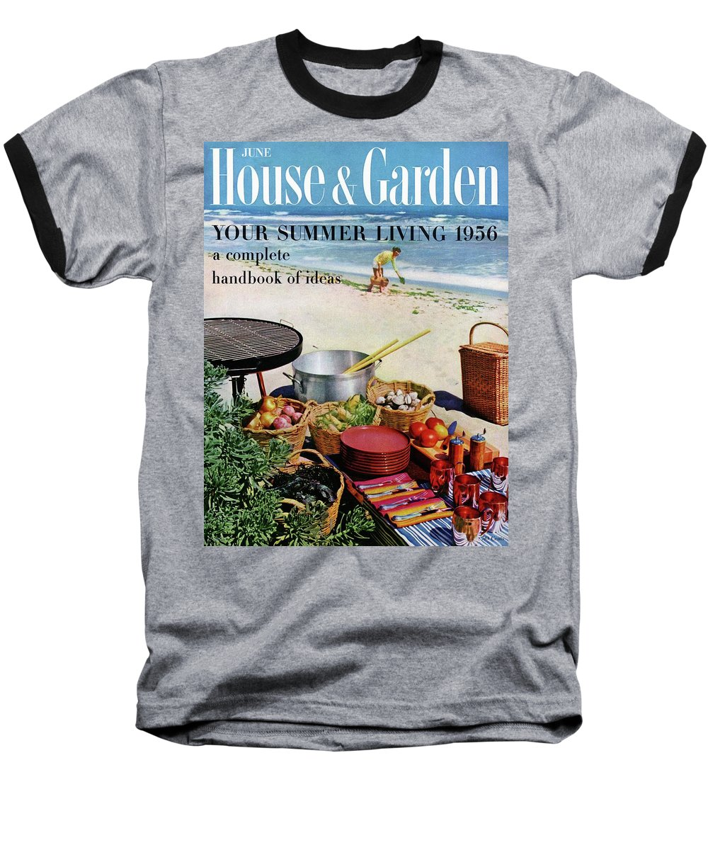 Entertainment Baseball T-Shirt featuring the photograph House And Garden Ideas For Summer Issue Cover by Tom Leonard