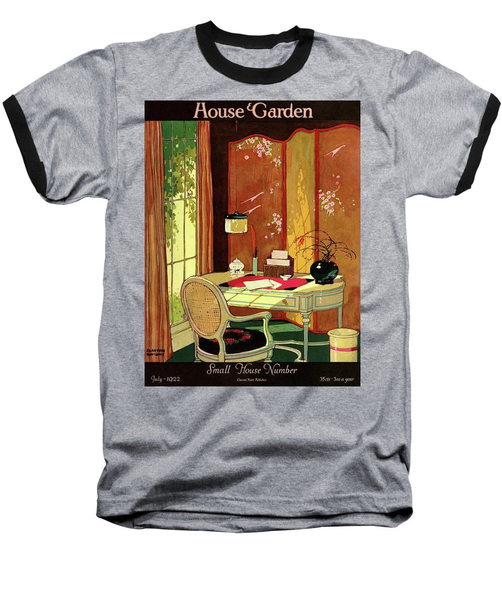 House And Garden Baseball T-Shirt featuring the photograph House And Garden Small House Number by Clayton Knight