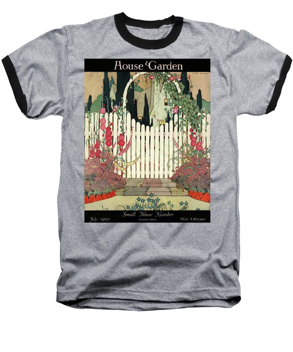 House And Garden Baseball T-Shirt featuring the photograph House And Garden Small House Number by H. George Brandt