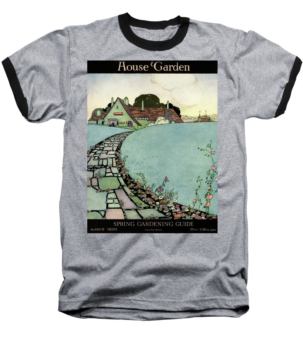 House And Garden Baseball T-Shirt featuring the photograph House And Garden Spring Garden Guide by Harry Richardson