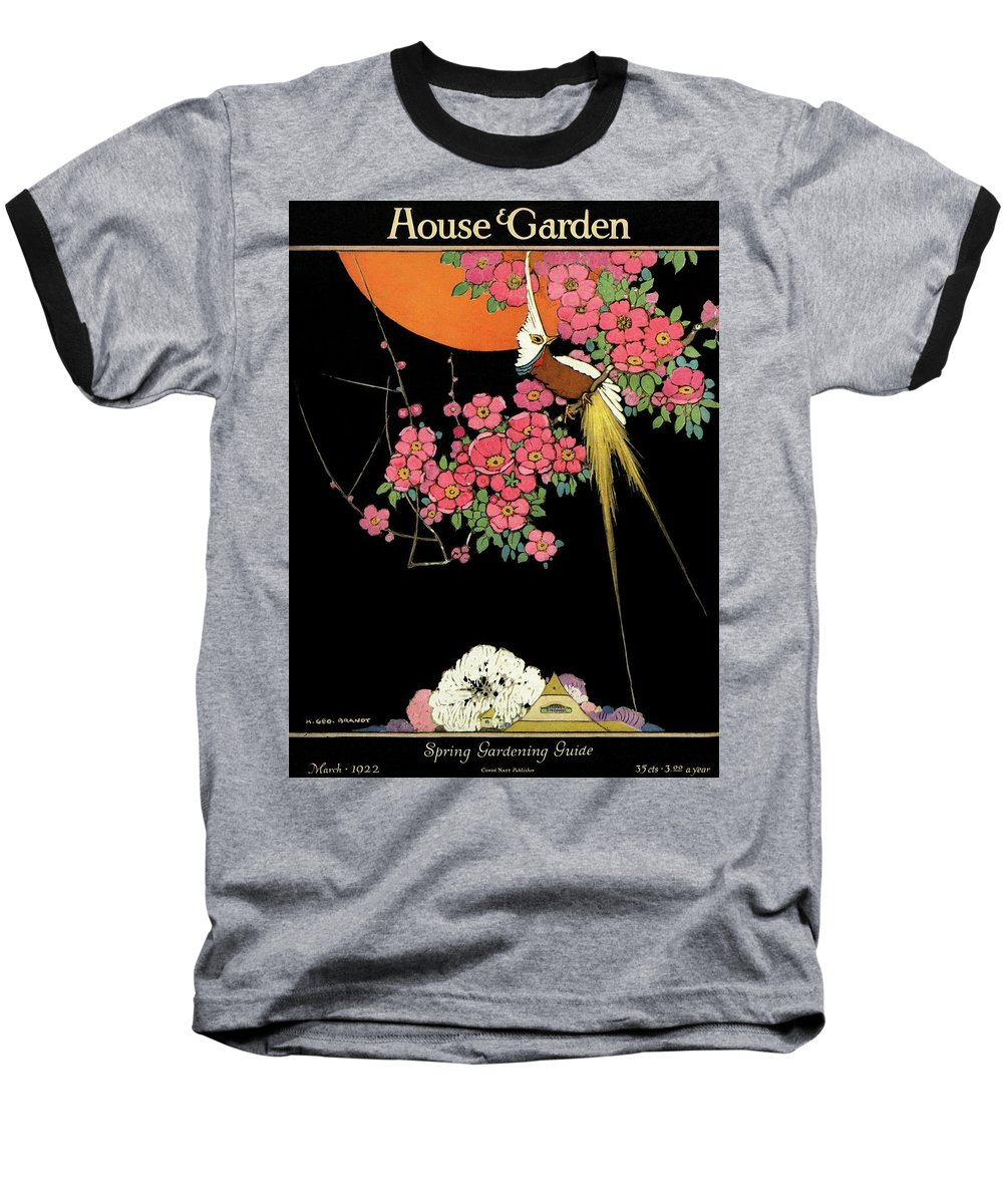 House And Garden Baseball T-Shirt featuring the photograph House And Garden Spring Gardening Guide by H. George Brandt