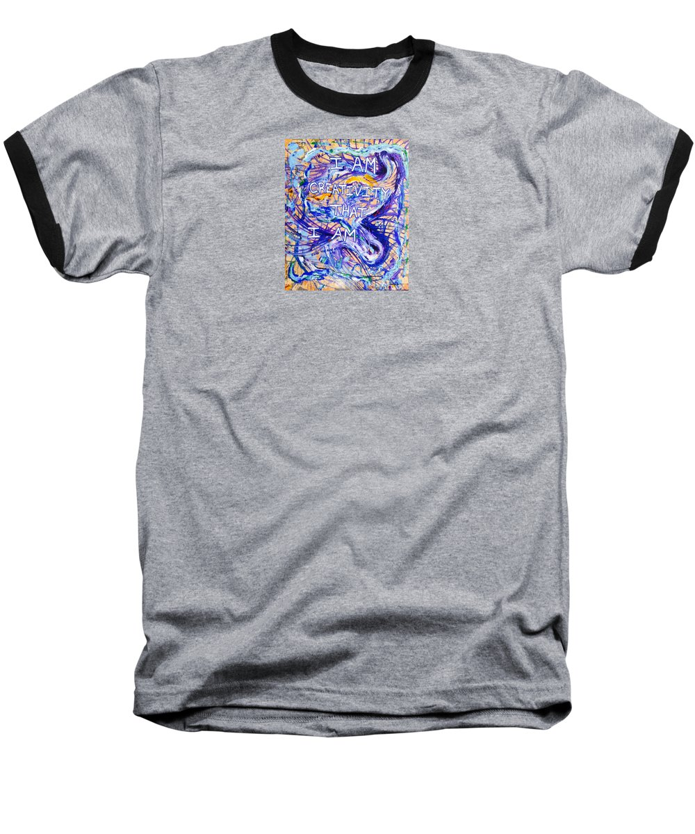 Inspirational Baseball T-Shirt featuring the painting I Am Creativity by Paul Carter