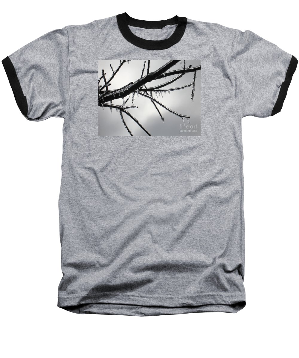 Winter Baseball T-Shirt featuring the photograph Iced Tree by Ann Horn