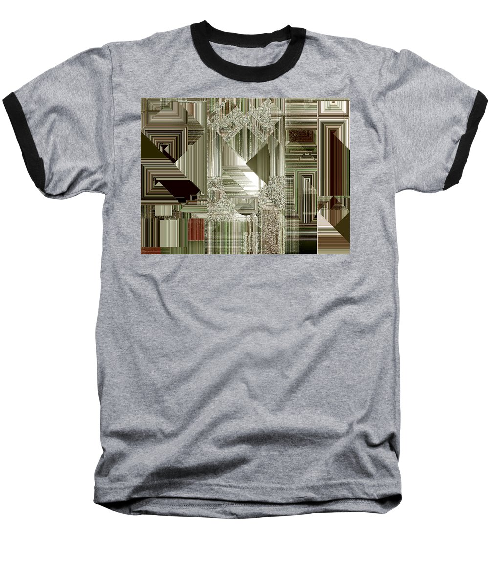 Abstract Baseball T-Shirt featuring the painting Indecision I by RC deWinter