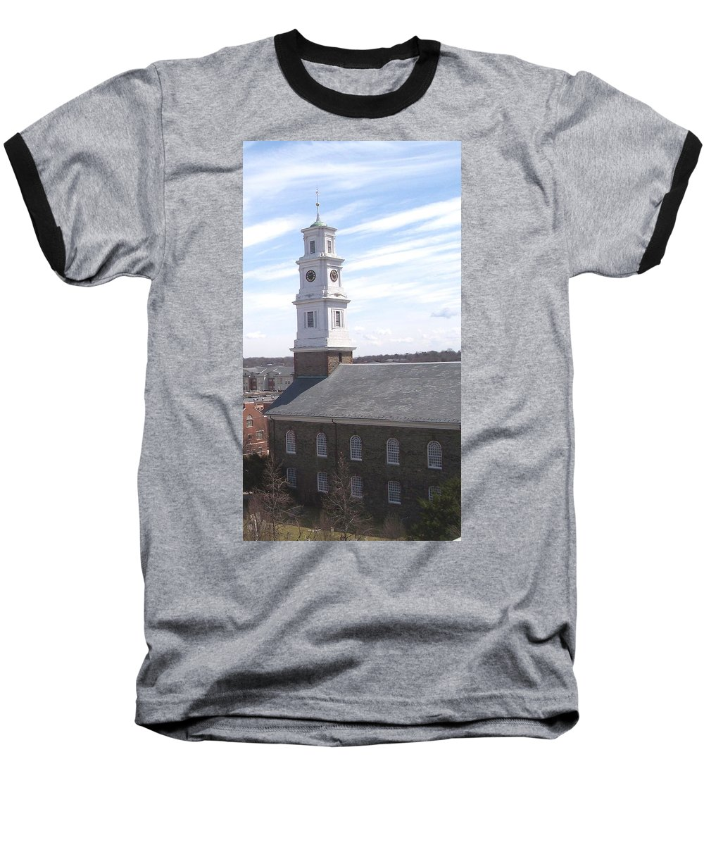 Architecture Baseball T-Shirt featuring the photograph Into The Blue by Pharris Art