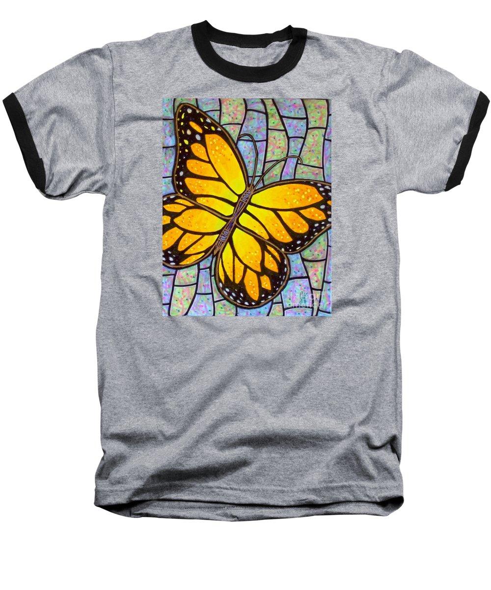 Butterflies Baseball T-Shirt featuring the painting Karens Butterfly by Jim Harris